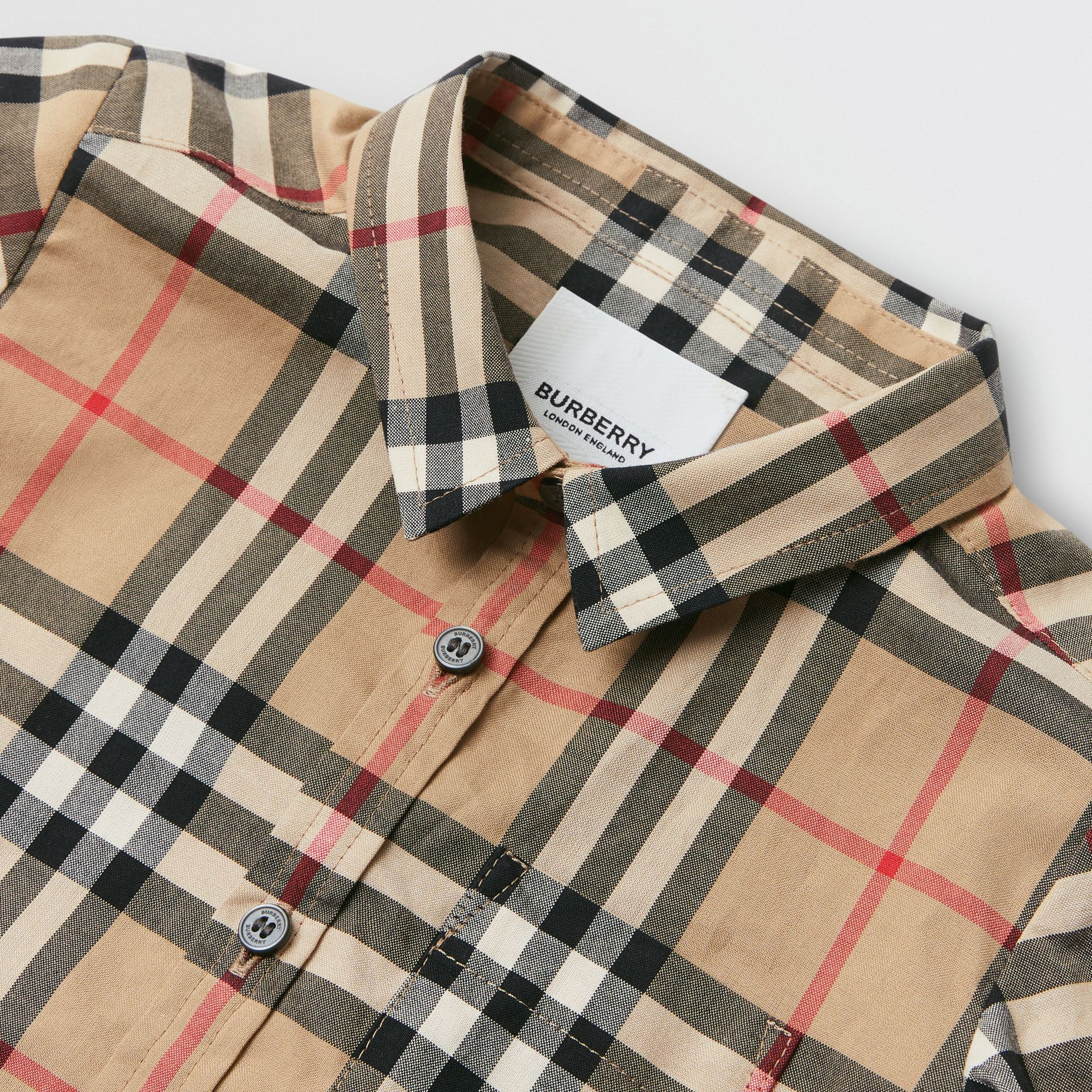 Vintage Check Cotton Shirt in Archive Beige - Children | Burberry Australia - gallery image 1