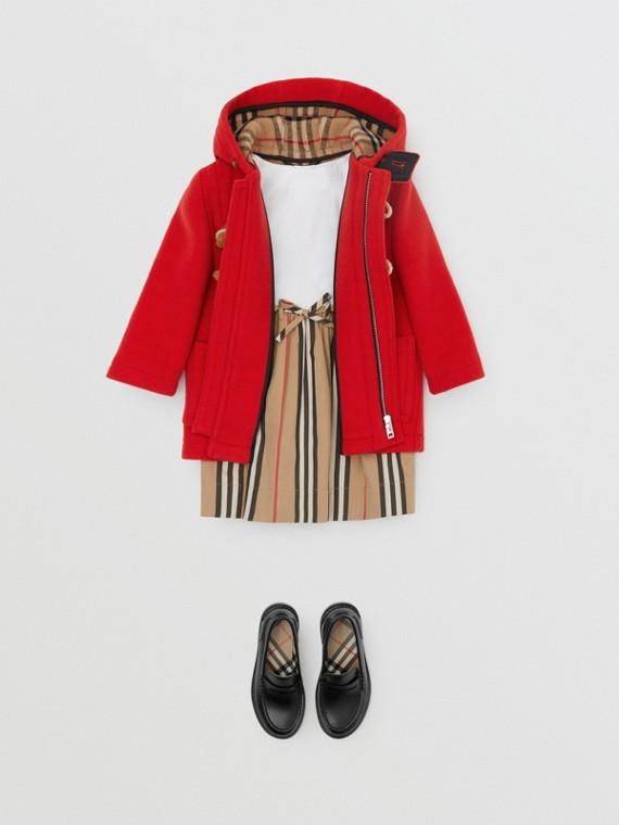 Duffle coat de lã (Vermelho Intenso)