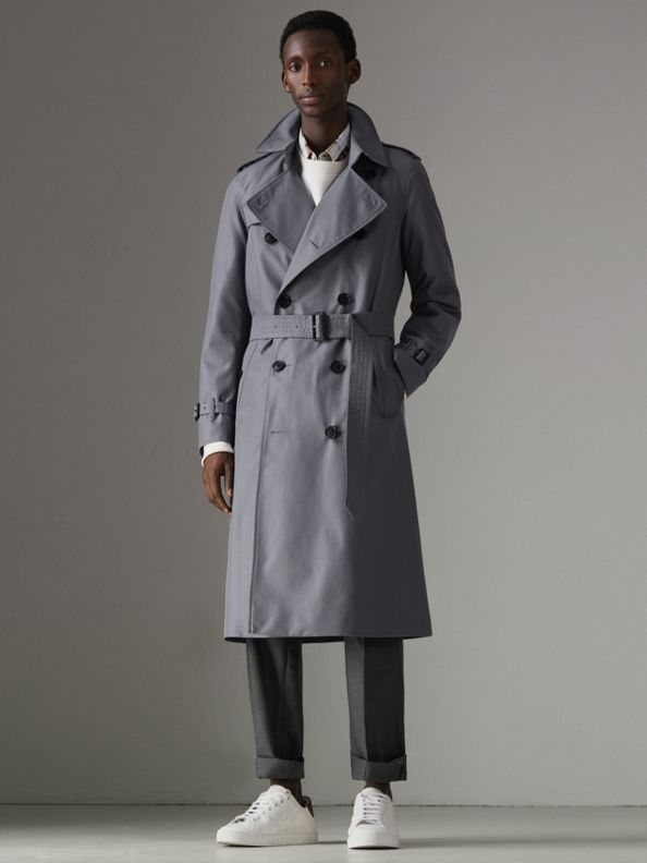 Trench coat Heritage Chelsea largo (Gris Medio)