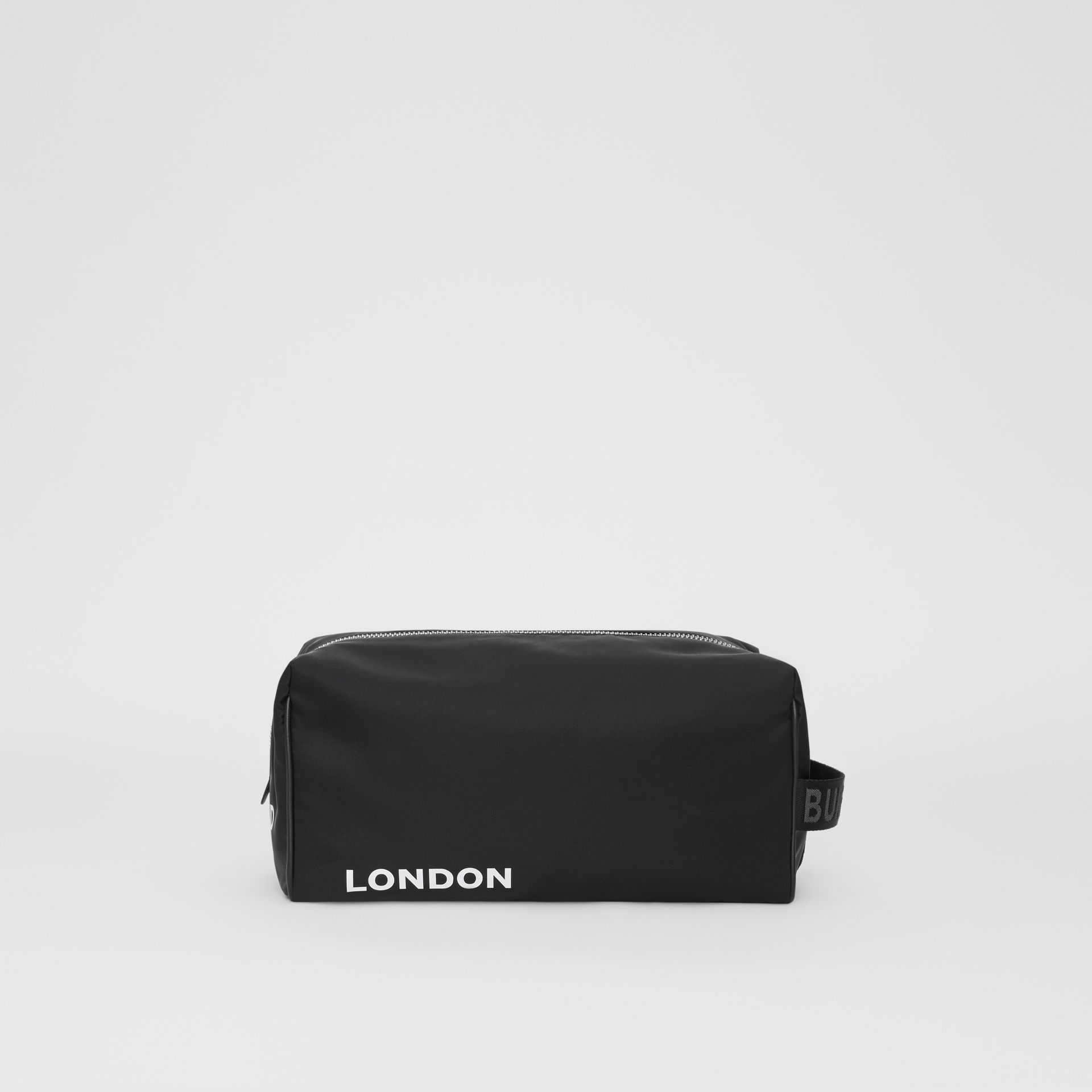 Horseferry Print Nylon Travel Pouch in Black/white | Burberry United Kingdom - gallery image 7