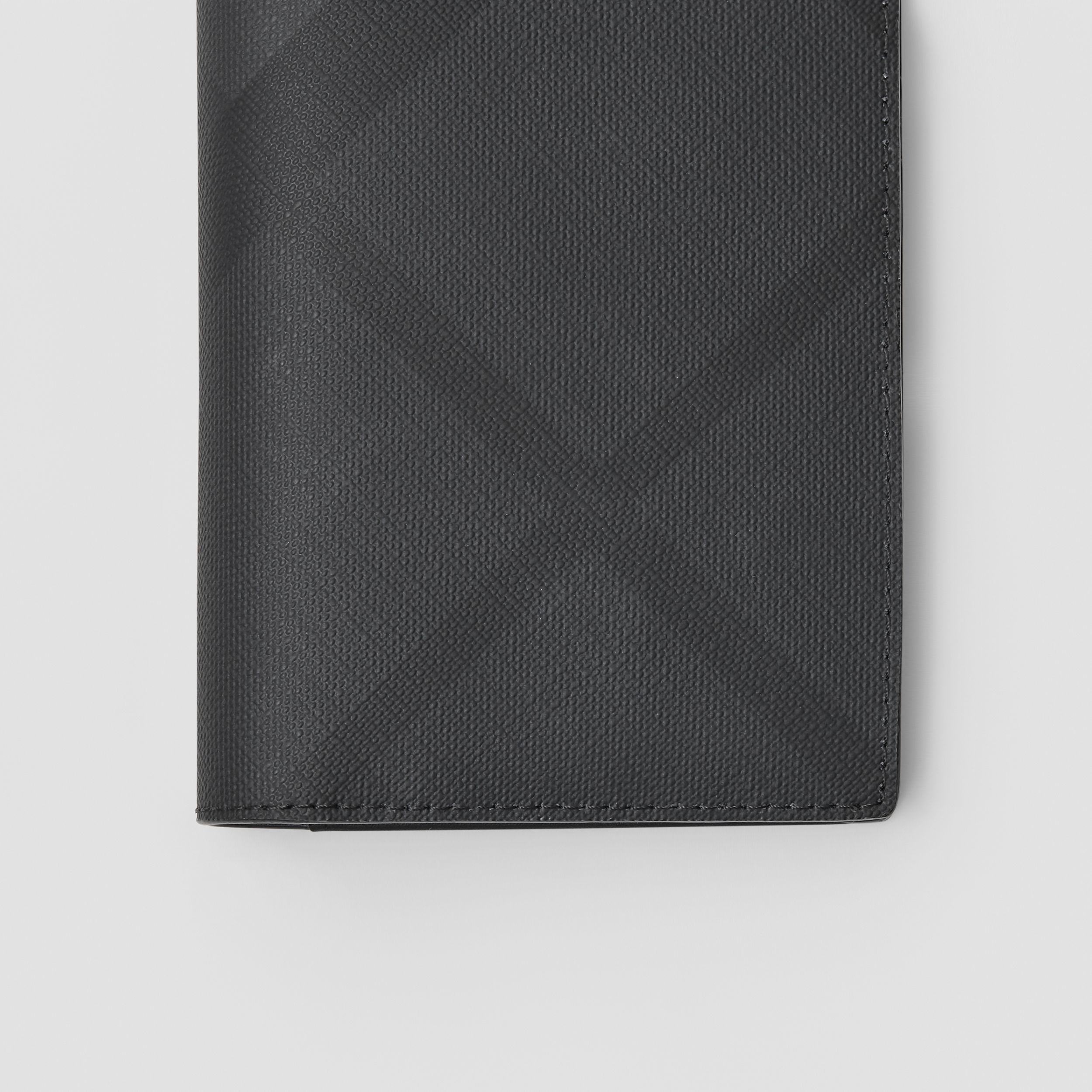 London Check and Leather Continental Wallet in Dark Charcoal - Men | Burberry Australia - 2