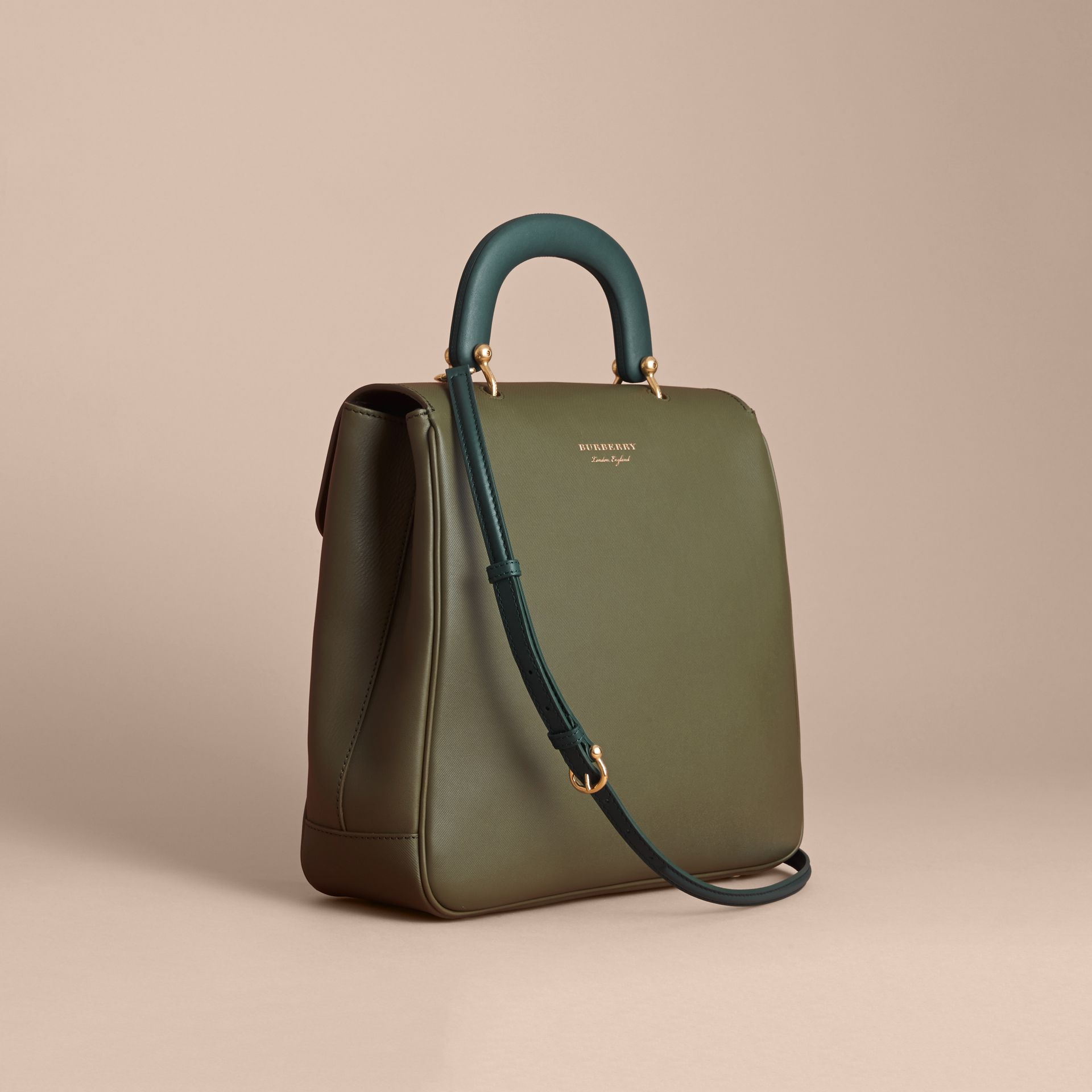 The Large DK88 Top Handle Bag in Moss Green - Women | Burberry - gallery image 3