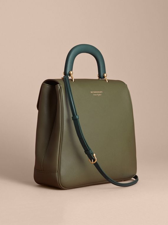 The Large DK88 Top Handle Bag in Moss Green - Women | Burberry - cell image 3