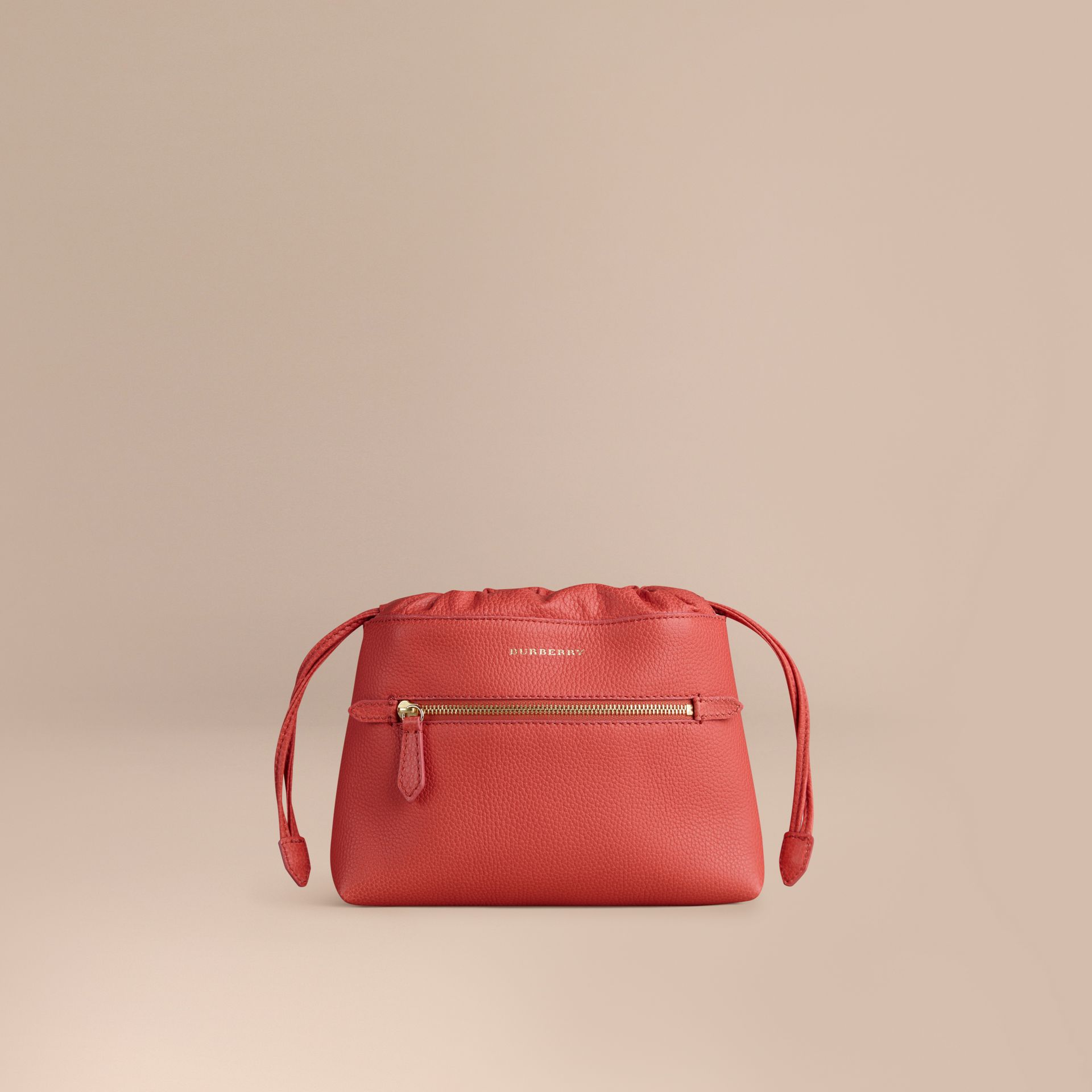 Bright peony The Mini Crush in Grainy Leather Bright Peony - gallery image 1
