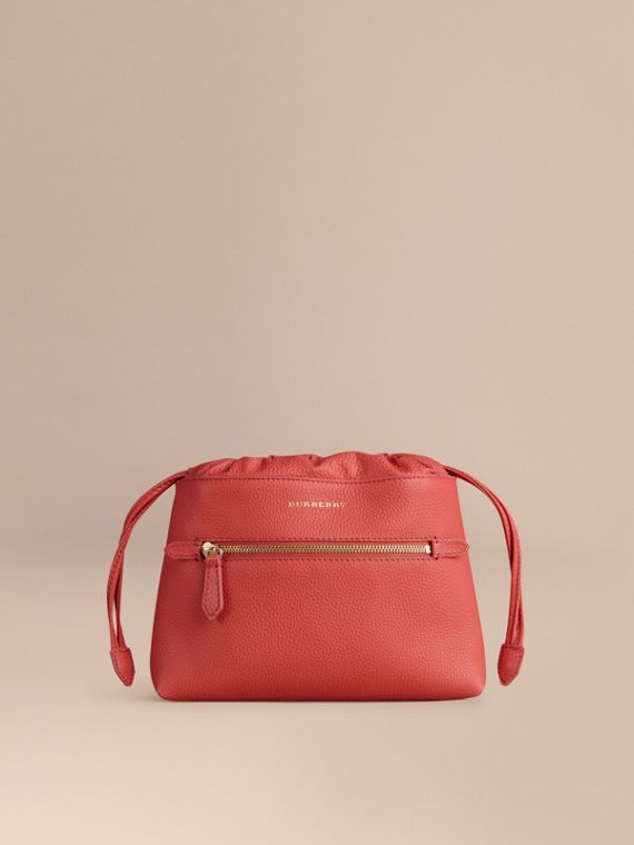 Sac The Mini Crush en cuir grené Pivoine Vif