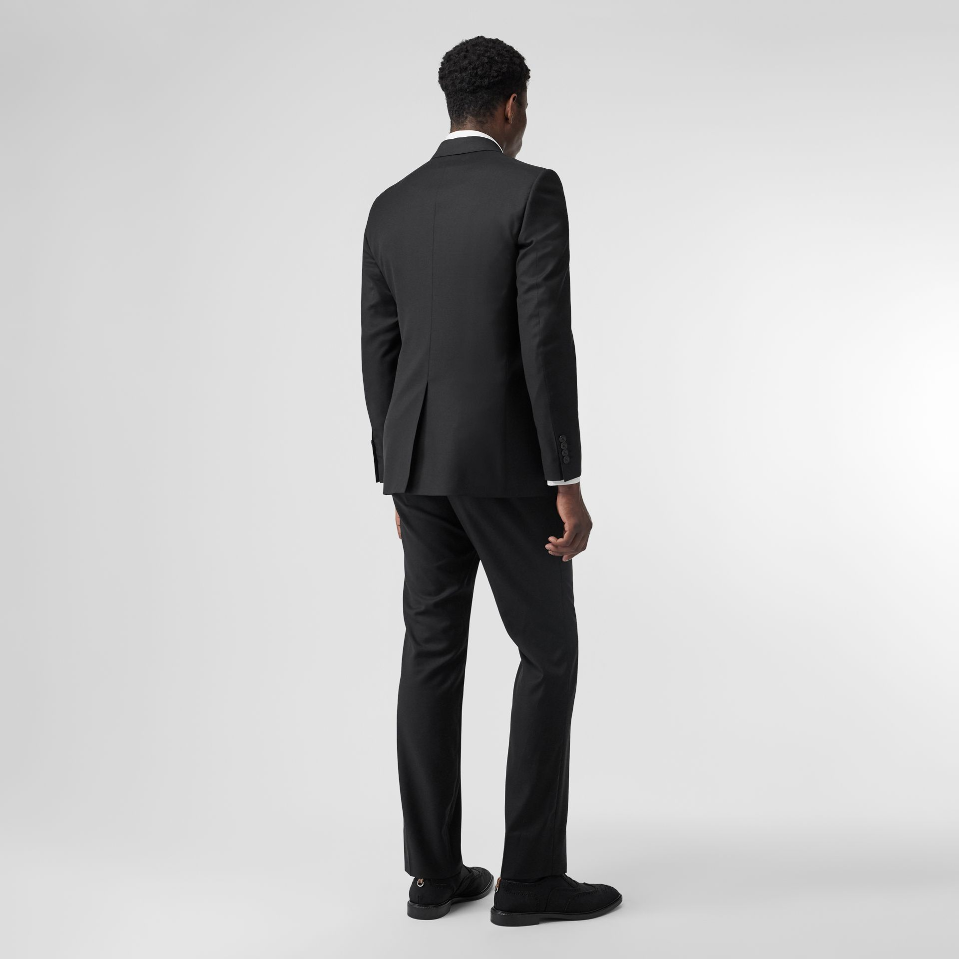 Classic Fit Wool Suit in Black - Men | Burberry United Kingdom - gallery image 2