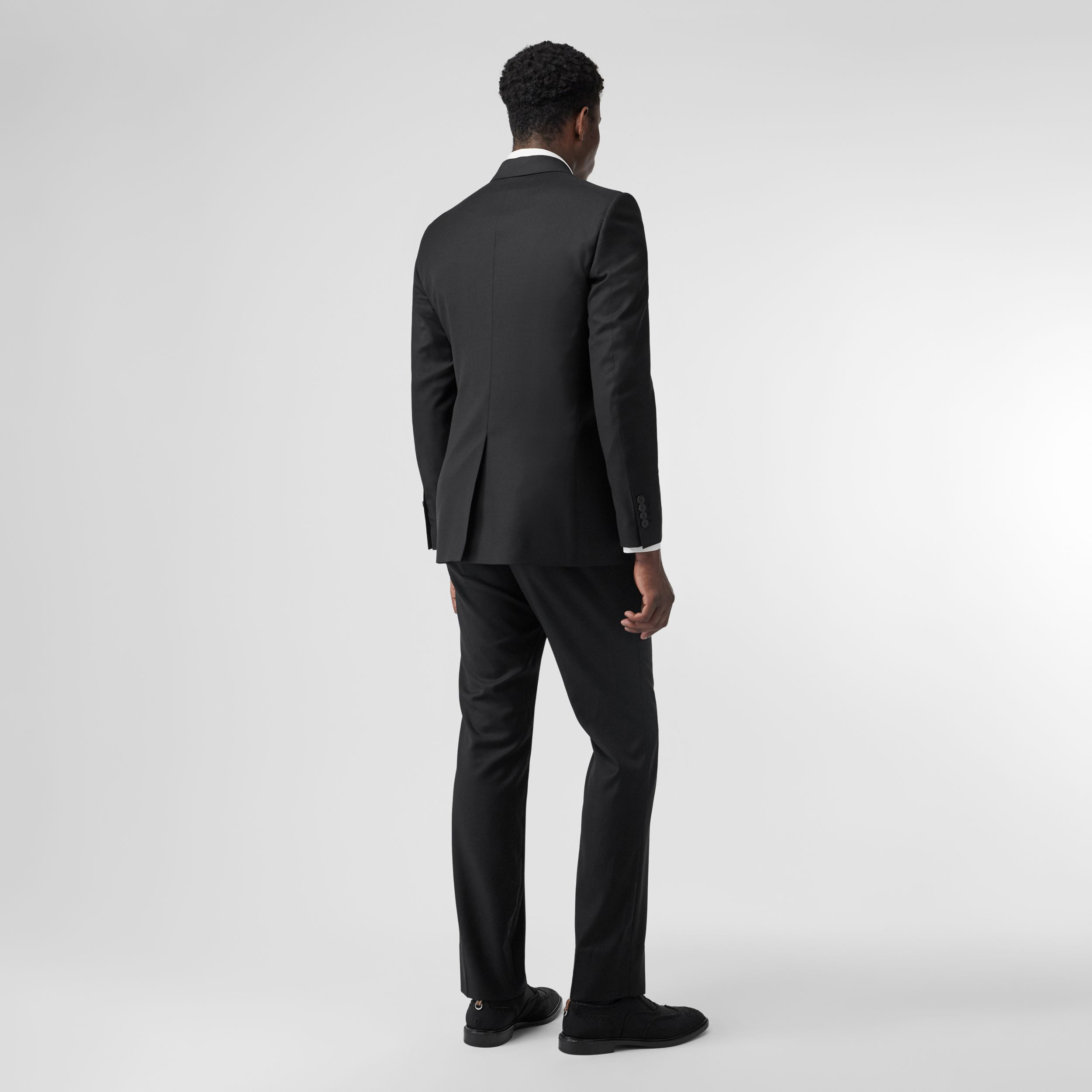 Classic Fit Wool Suit in Black - Men | Burberry - 3