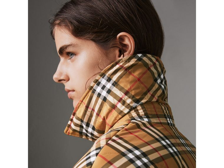 Vintage Check Diamond Quilted Jacket in Antique Yellow - Women | Burberry Singapore - cell image 1