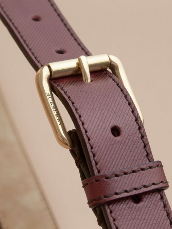Trench Leather Belt in Wine - Men | Burberry United Kingdom - cell image 3