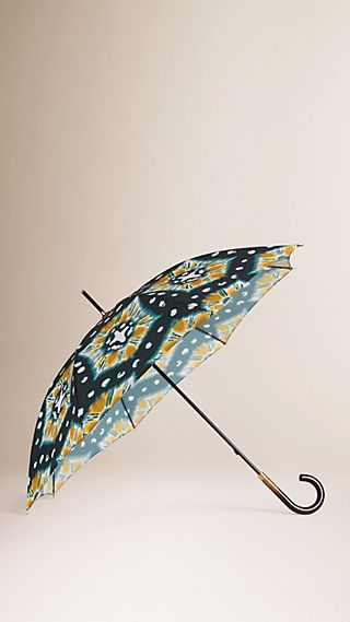 Tie-Dye Print Walking Umbrella