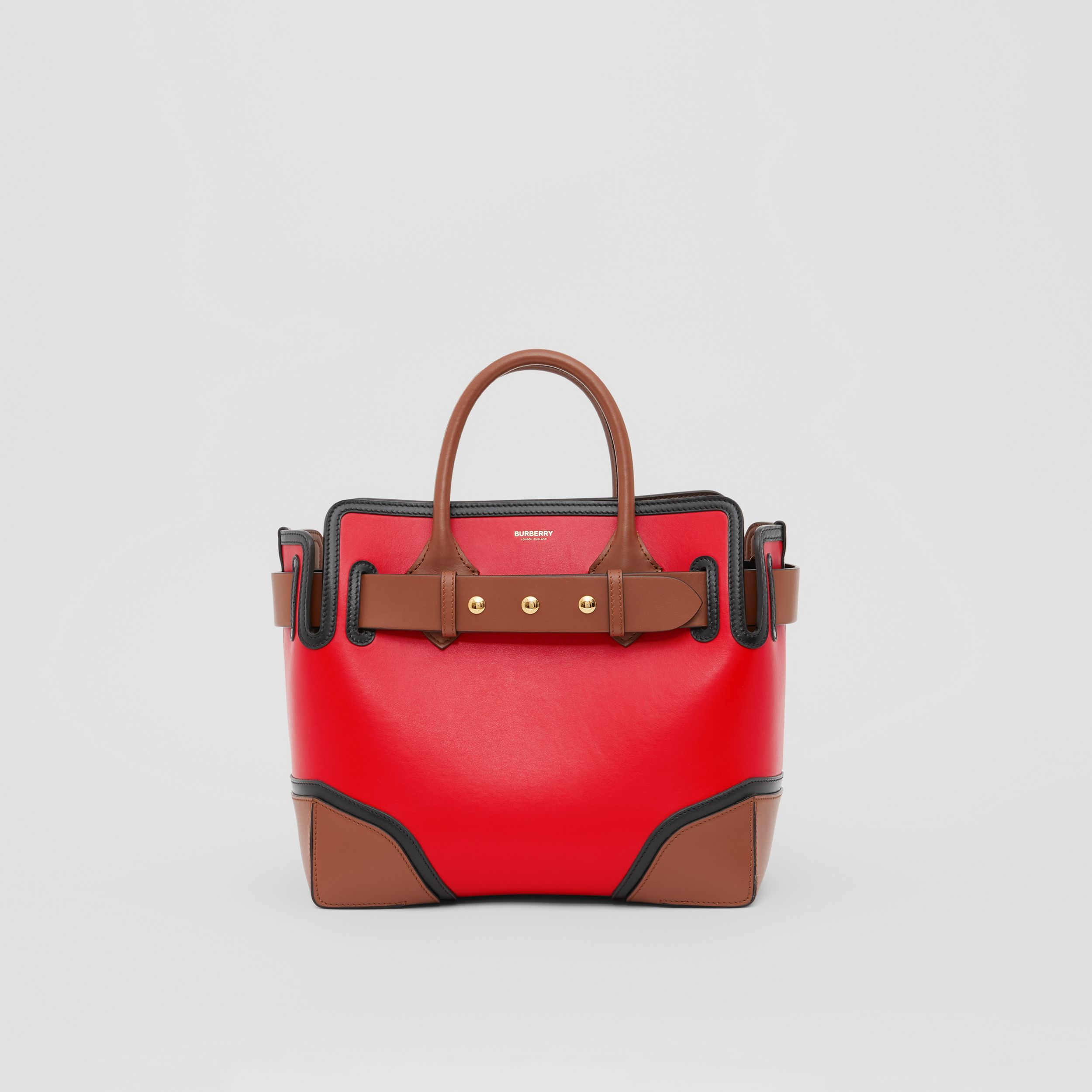 The Small Leather Triple Stud Belt Bag in Bright Red - Women | Burberry - 1