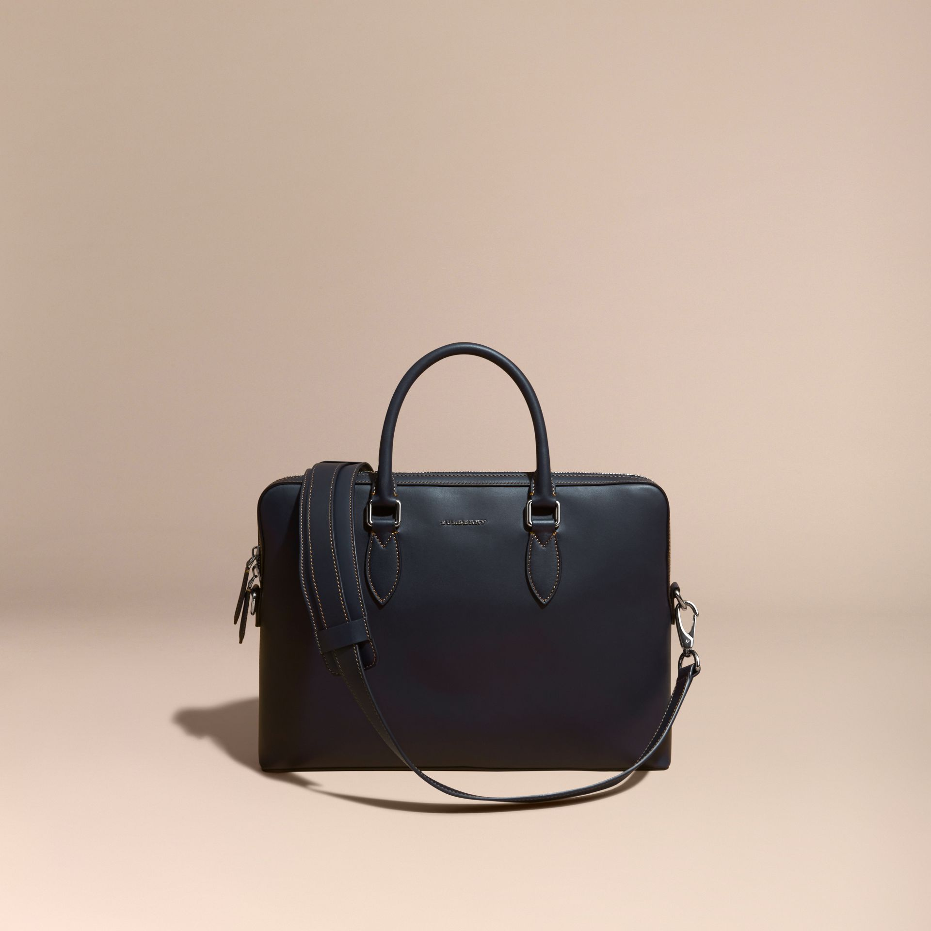 Dark navy The Slim Barrow in Smooth Leather - gallery image 7