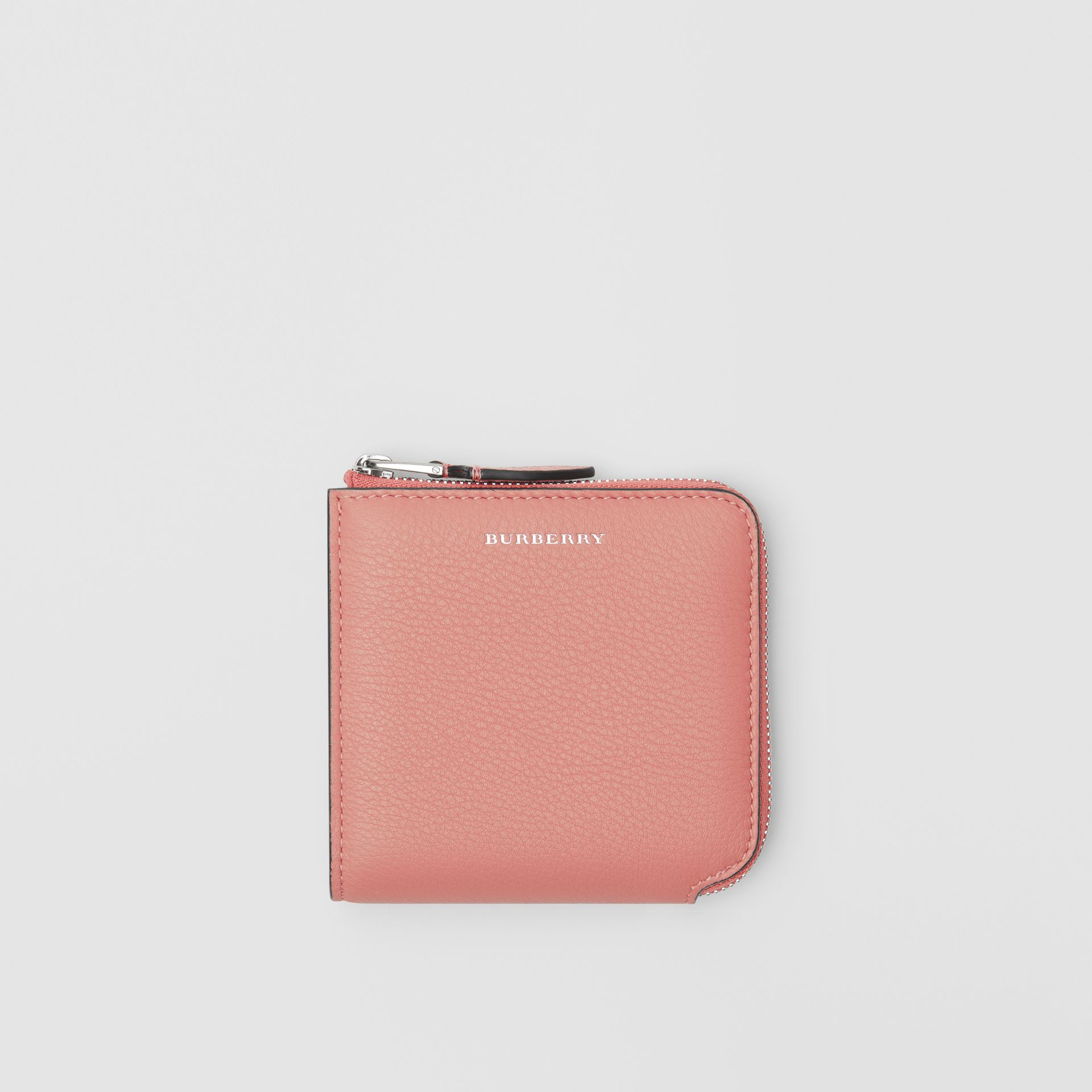 Grainy Leather Square Ziparound Wallet in Dusty Rose - Women | Burberry Singapore - gallery image 0