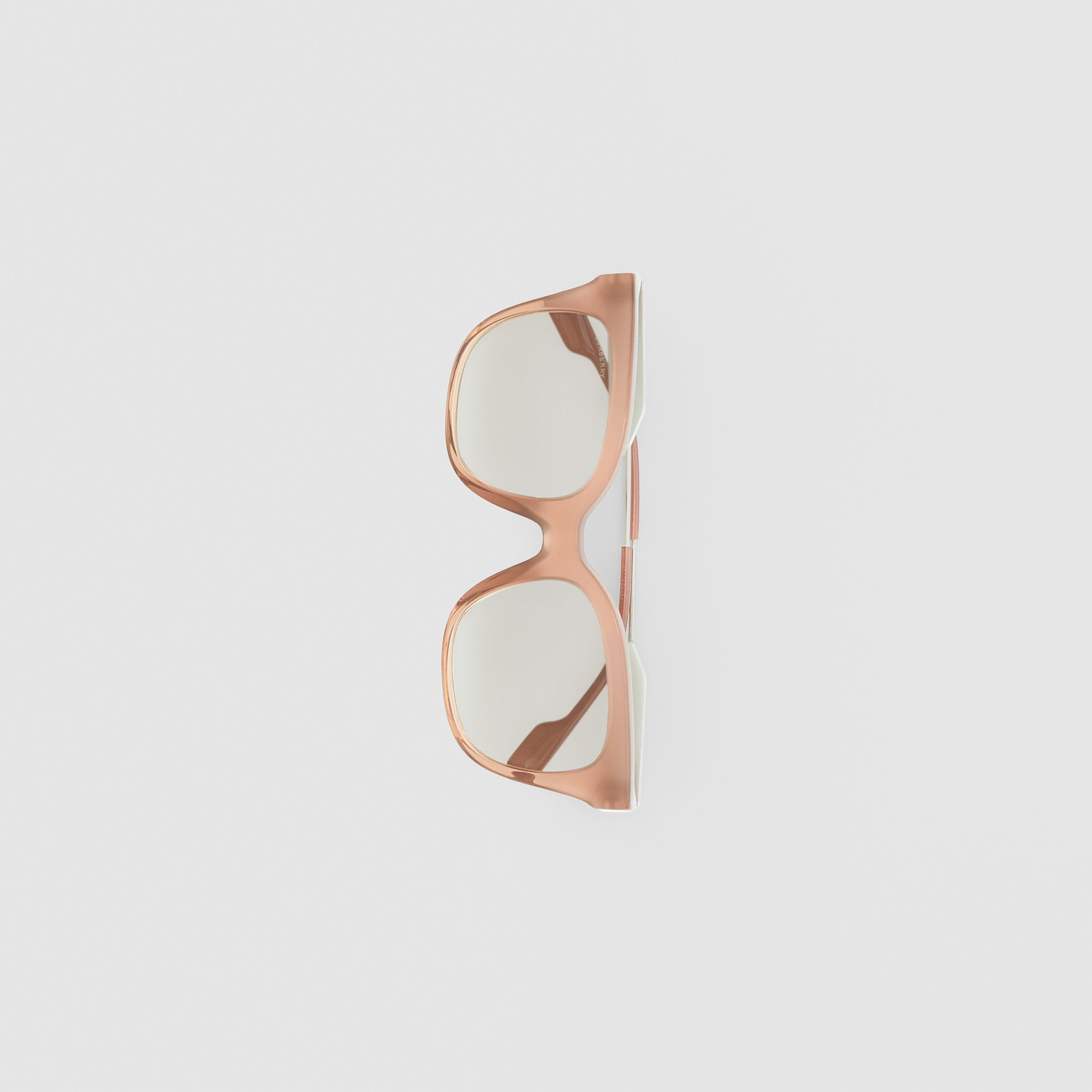 Butterfly Frame Sunglasses in Nude Pink - Women | Burberry - 4