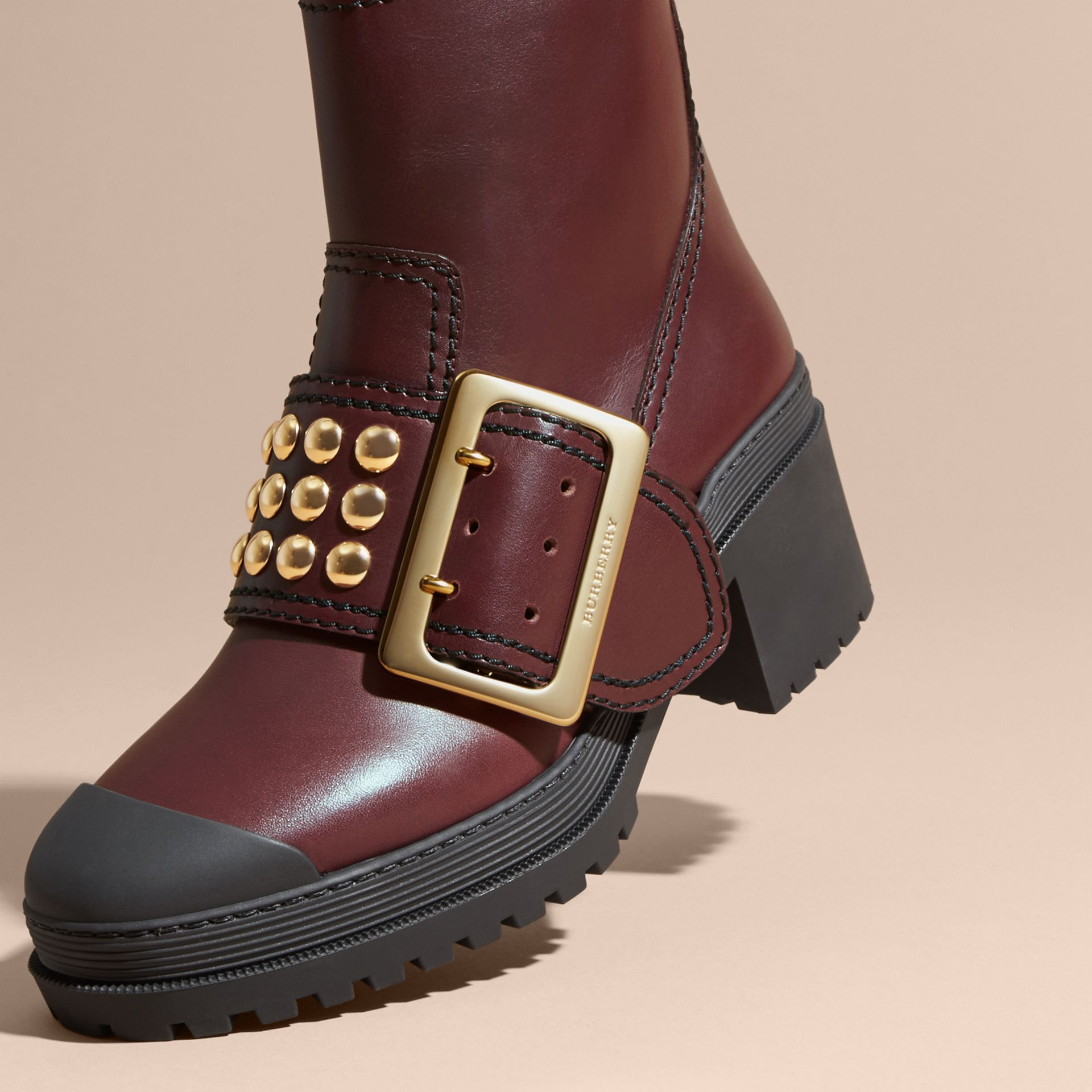 The Buckle Boot in Leather with Studs - gallery image 2