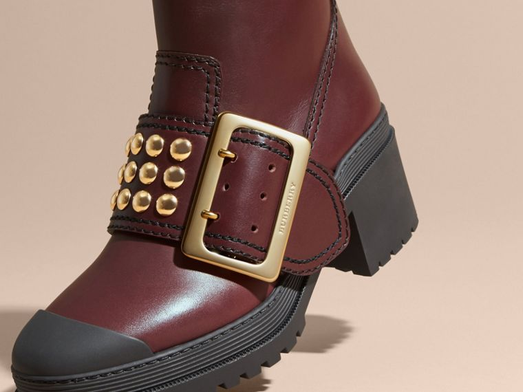 The Buckle Boot in Leather with Studs - cell image 1
