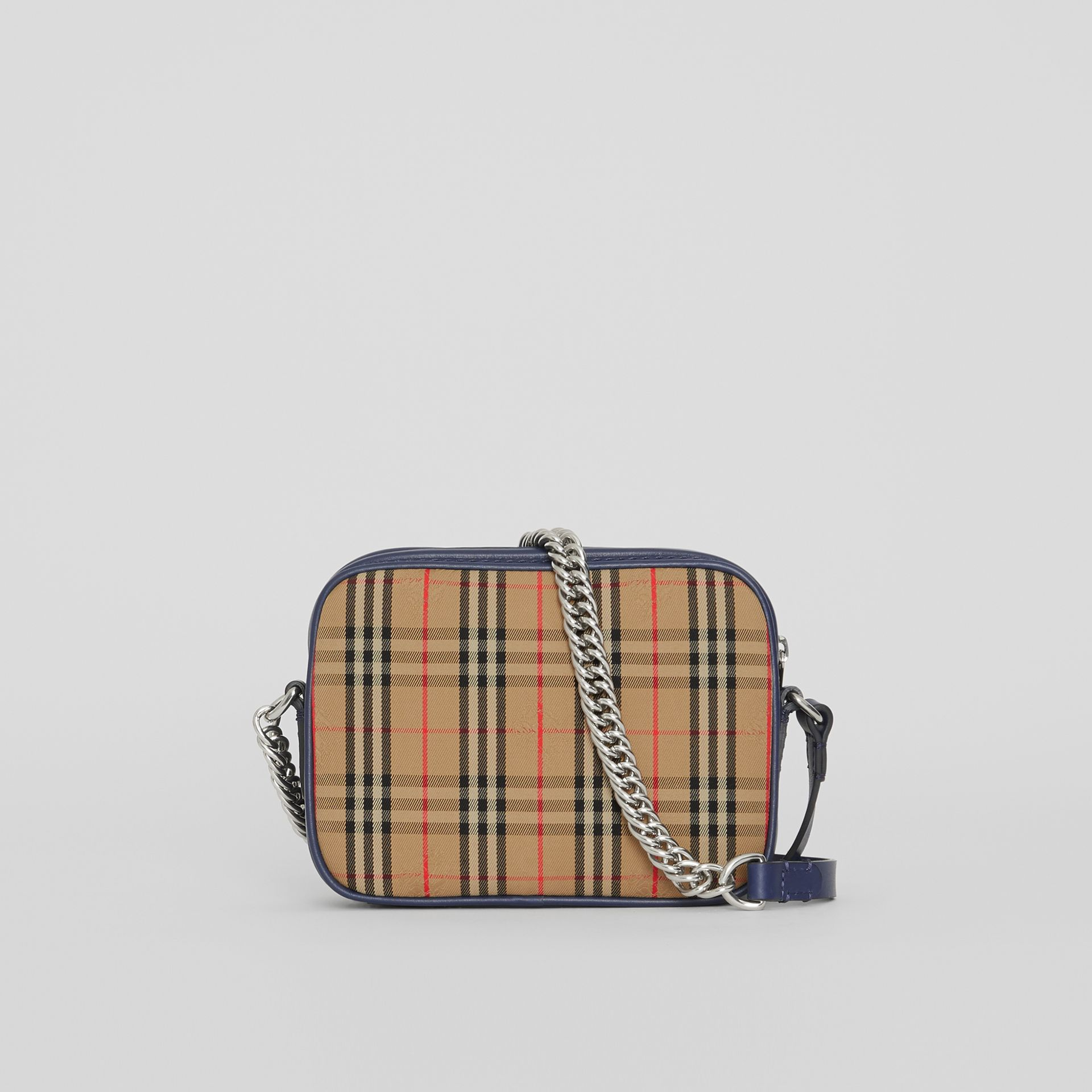 The 1983 Check Link Camera Bag in Ink Blue - Women | Burberry United States - gallery image 5