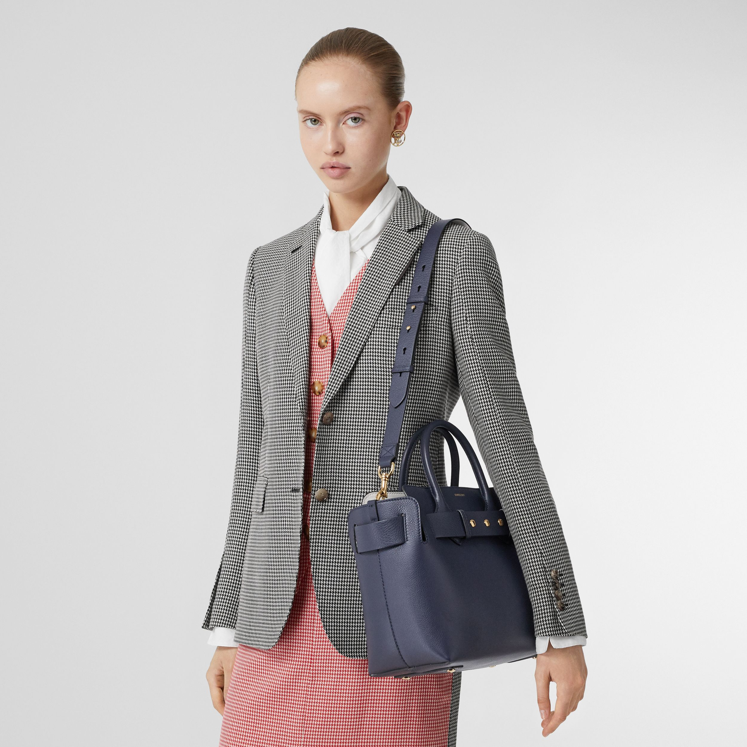 The Small Leather Triple Stud Belt Bag in Regency Blue - Women | Burberry - 3