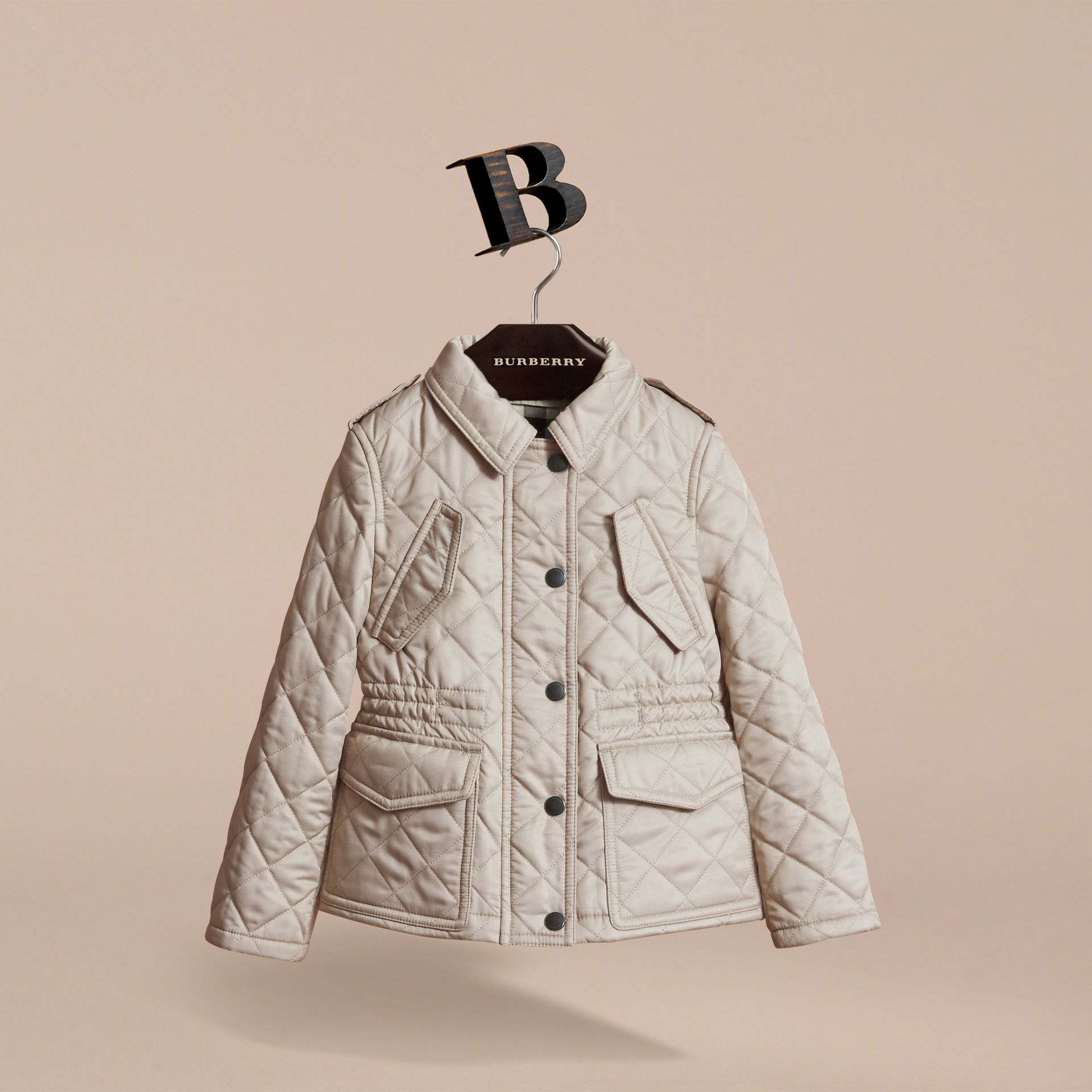 Quilted Field Jacket in Mink - Girl | Burberry - gallery image 3