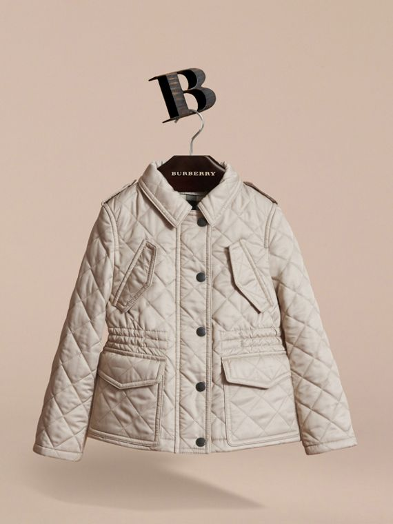 Quilted Field Jacket in Mink - Girl | Burberry - cell image 2