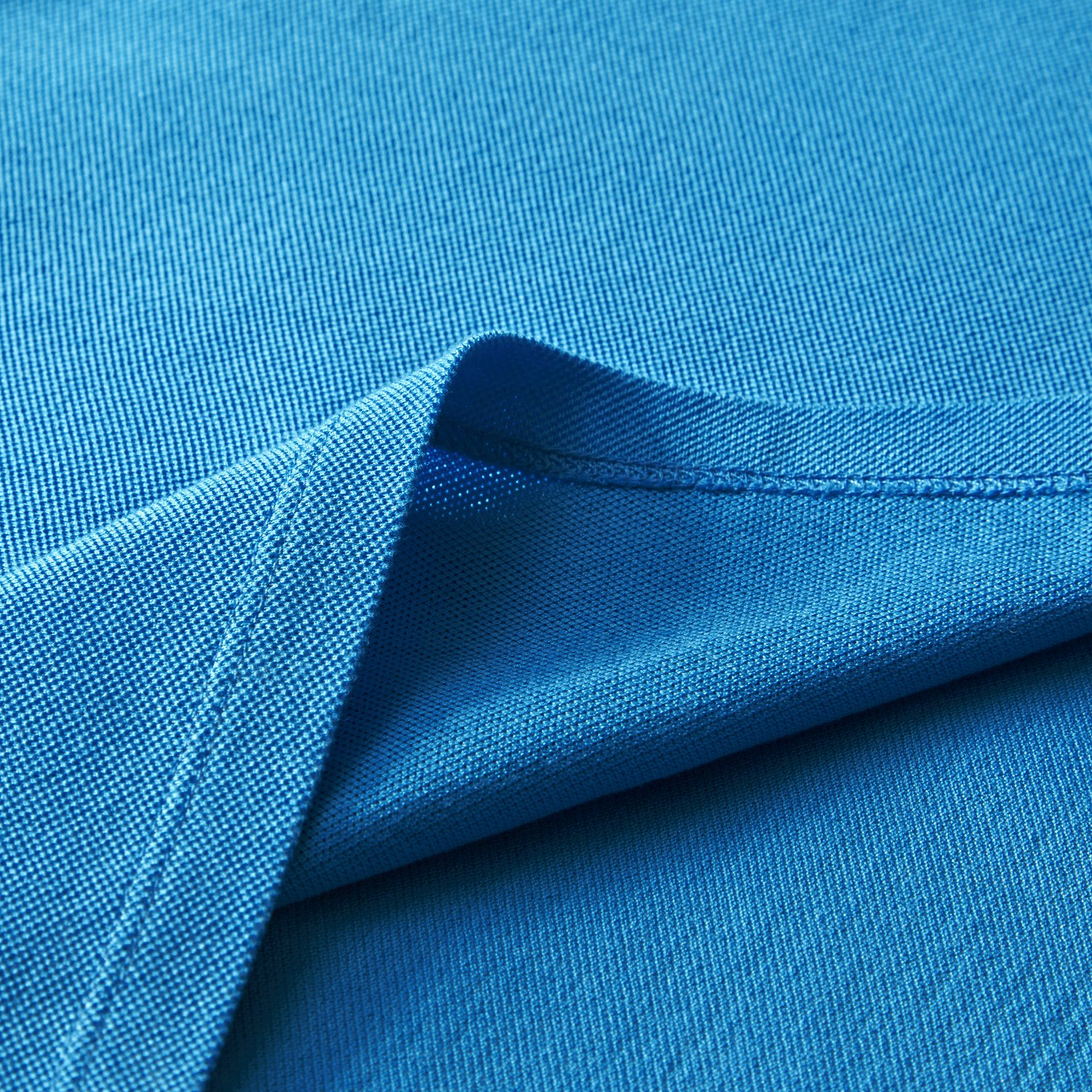 Tipped Collar Cotton Piqué Polo Shirt Chalk Blue - gallery image 2