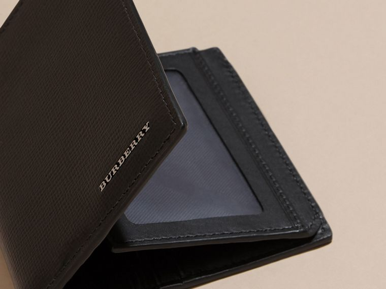 Black London Leather ID Wallet Black - cell image 4