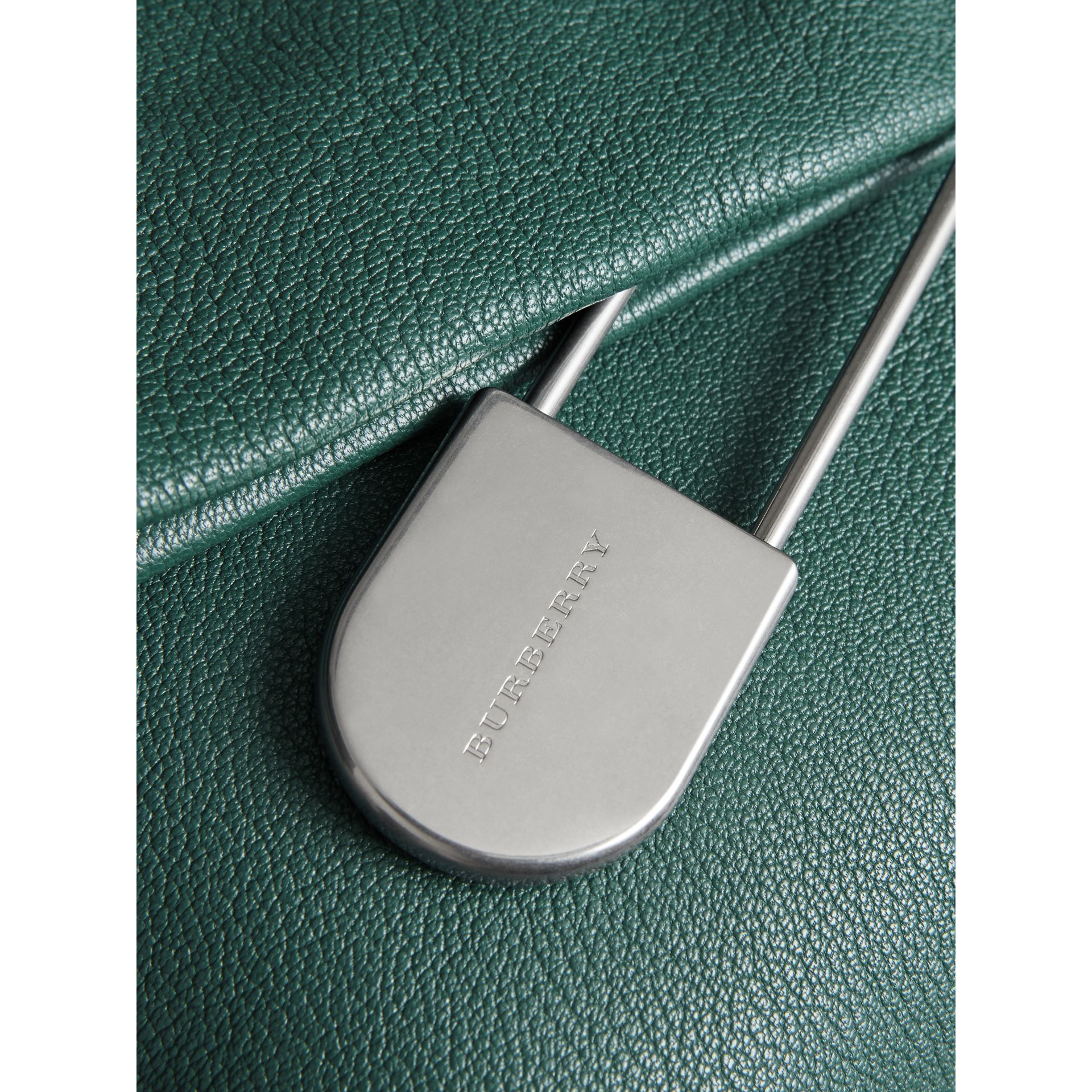 The Medium Pin Clutch in Leather in Sea Green - Women | Burberry United Kingdom - gallery image 1