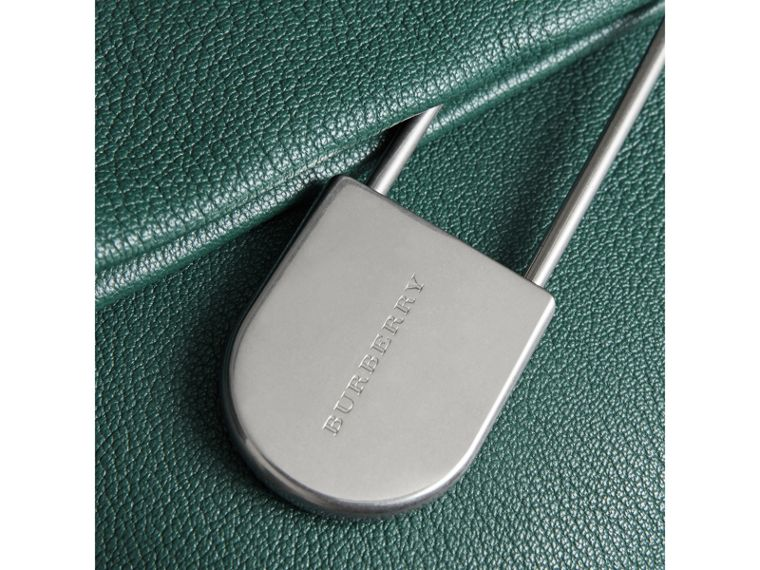 The Medium Pin Clutch in Leather in Sea Green - Women | Burberry Canada - cell image 1
