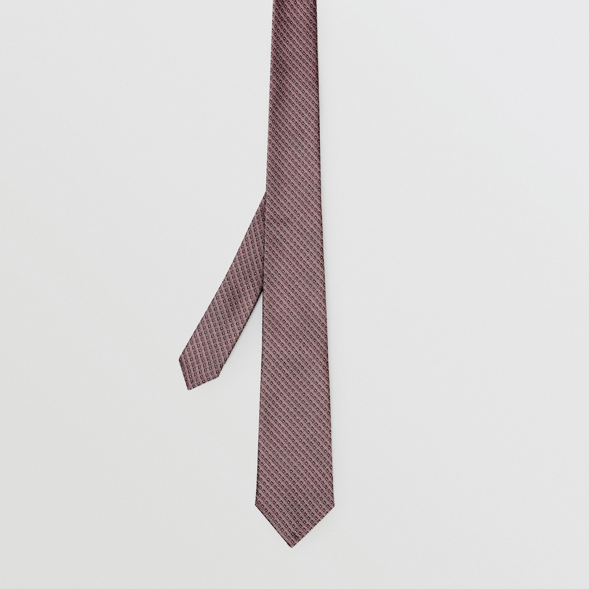 Classic Cut Micro Dot Silk Jacquard Tie in Garnet Pink - Men | Burberry United Kingdom - gallery image 4