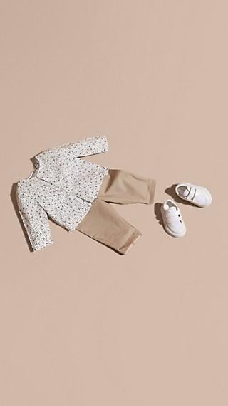 Painterly Spot Print Cotton Shirt