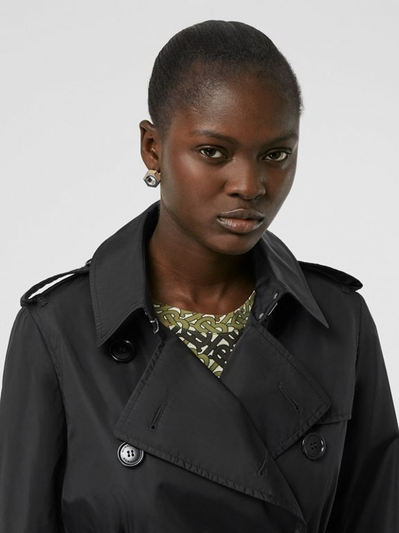 Detachable Hood ECONYL® Trench Coat in Black - Women | Burberry - cell image 1