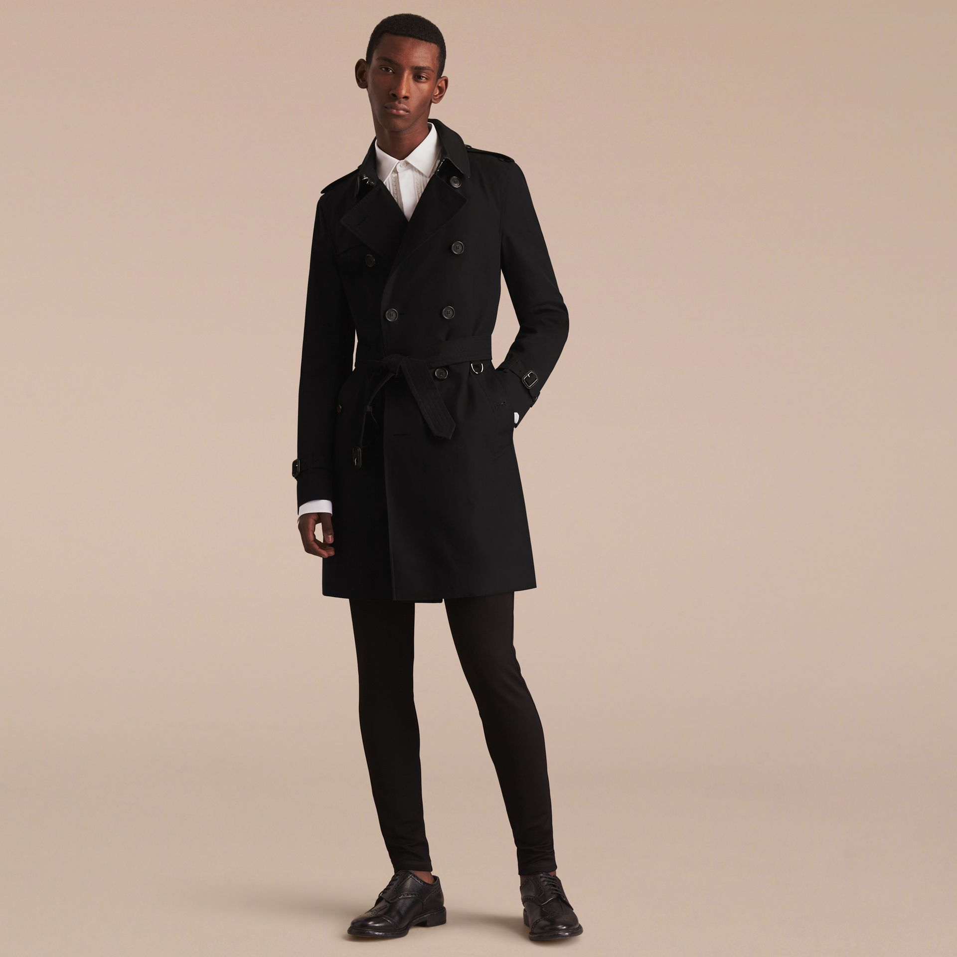 Black The Sandringham – Long Heritage Trench Coat Black - gallery image 9