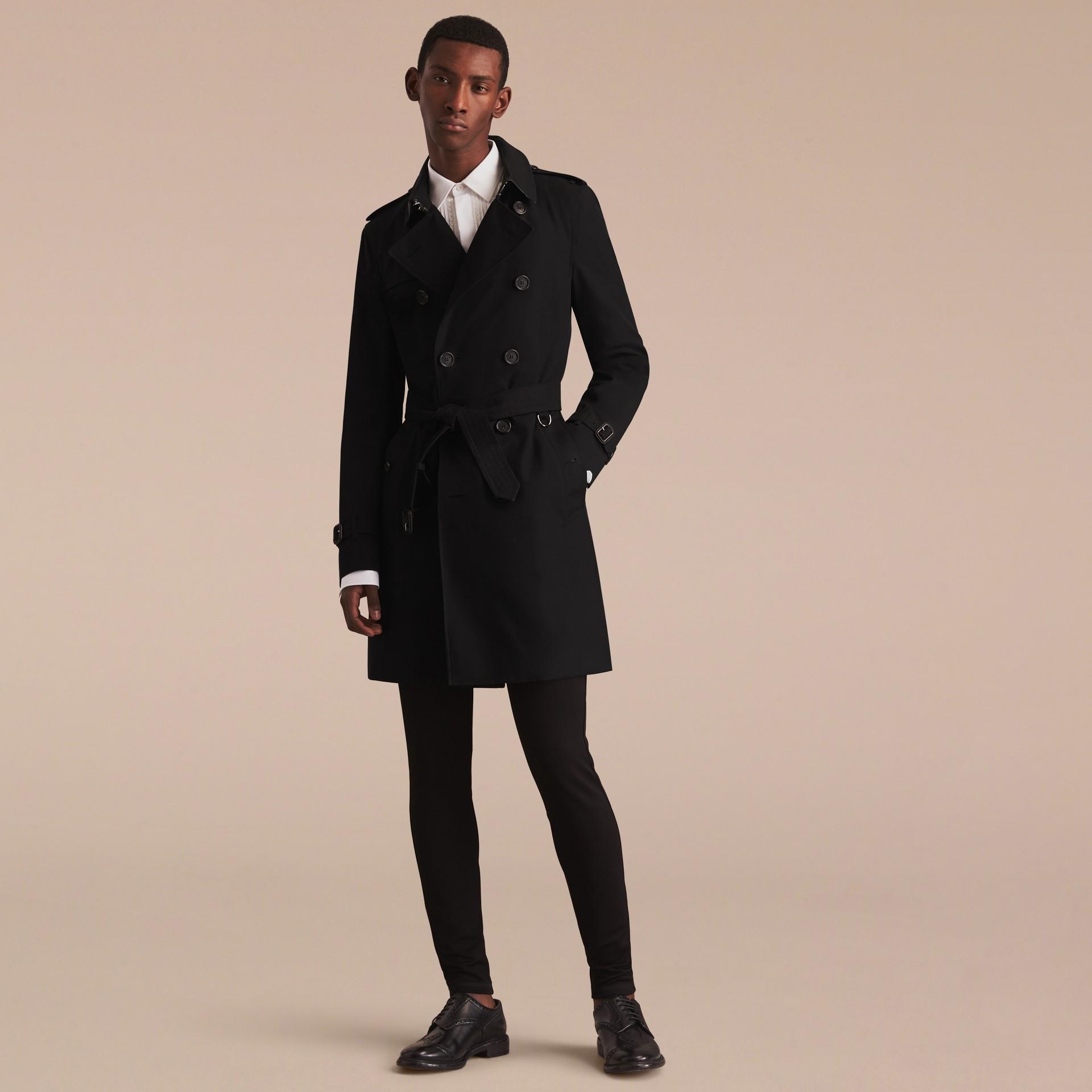 Noir The Sandringham – Trench-coat Heritage long Noir - photo de la galerie 9