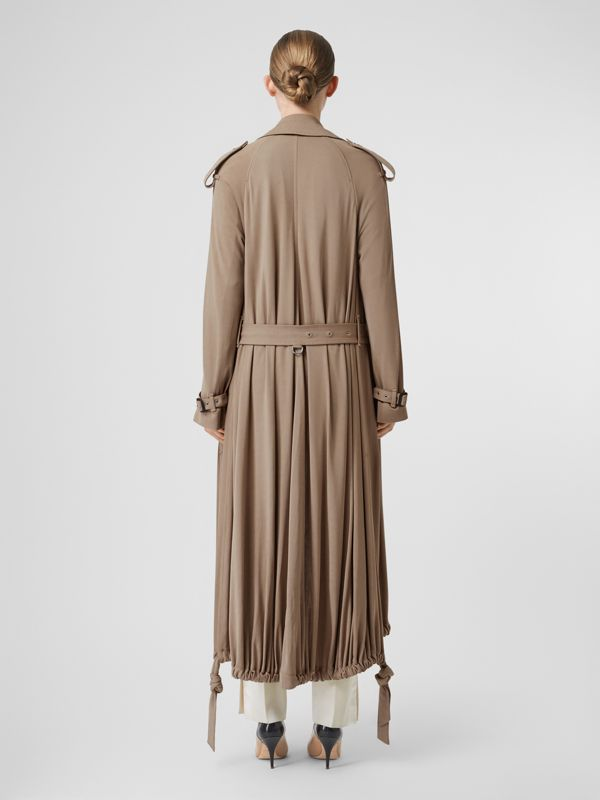 Jersey Wrap Coat in Warm Taupe - Women | Burberry - cell image 2