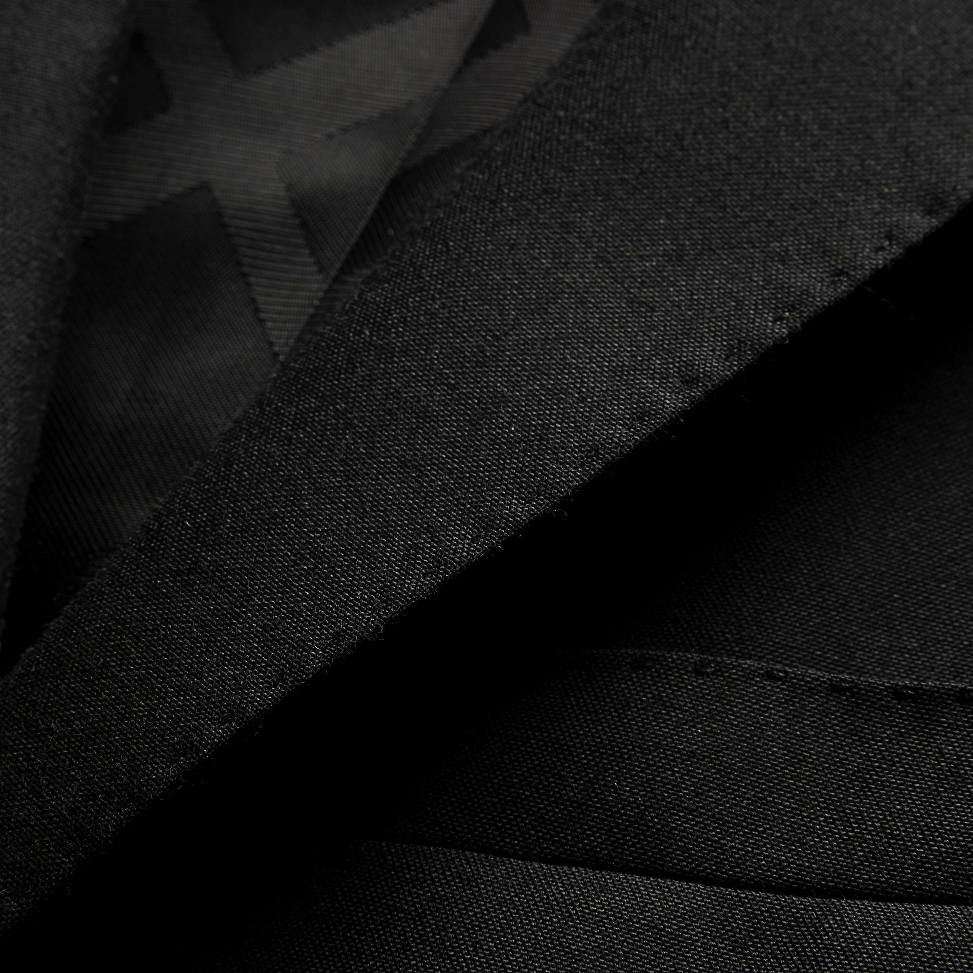 Slim Fit Wool Part-canvas Suit in Black - Men | Burberry Canada - gallery image 2