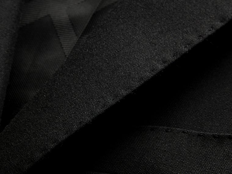Slim Fit Wool Part-canvas Suit in Black - Men | Burberry Canada - cell image 1