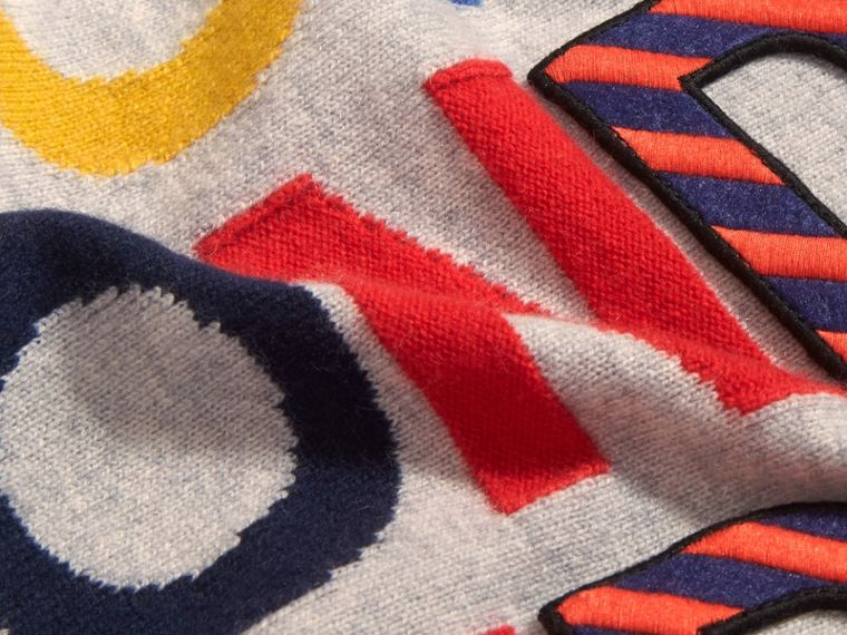 London Intarsia Cashmere Sweater - cell image 1