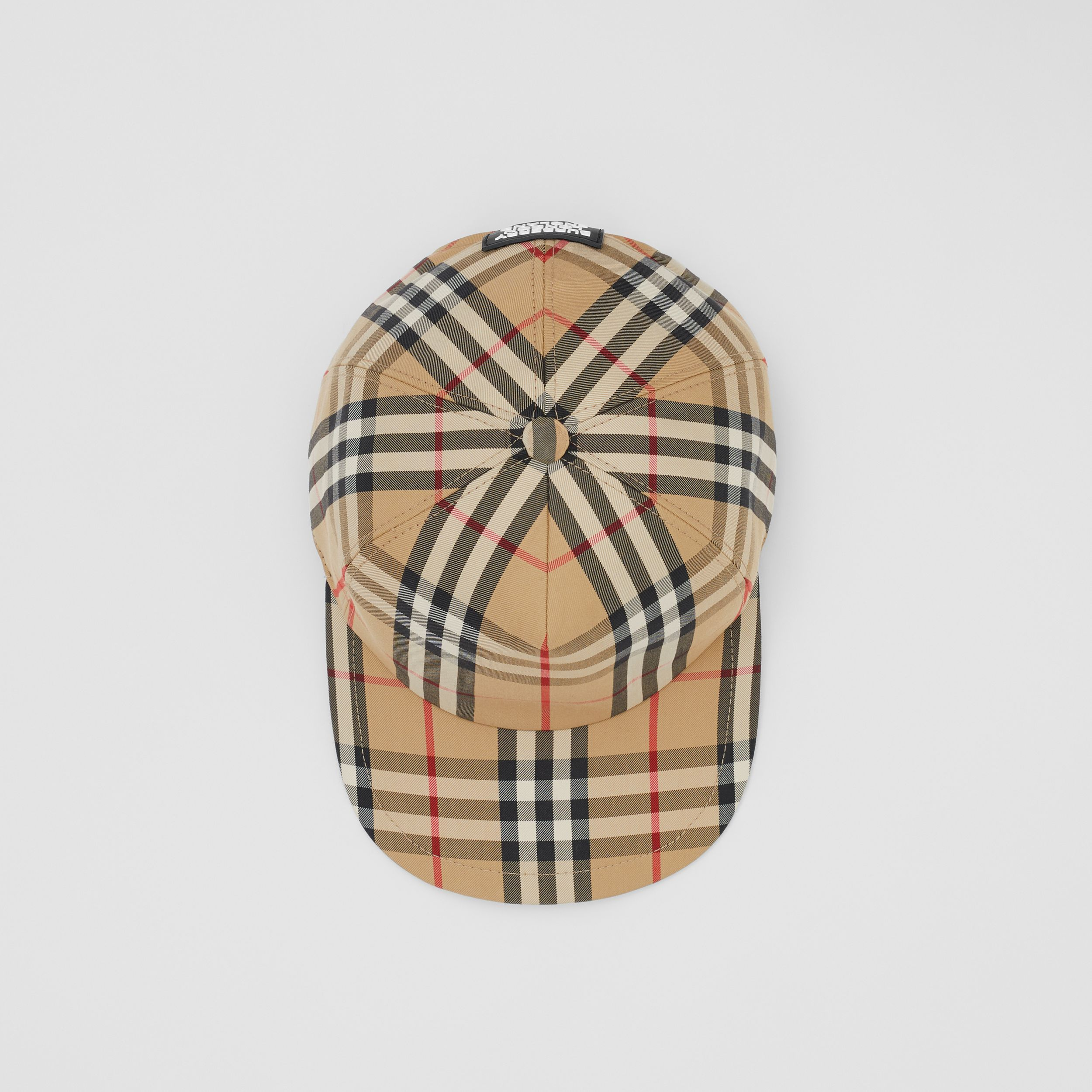 Logo Detail Vintage Check Baseball Cap in Archive Beige | Burberry - 1