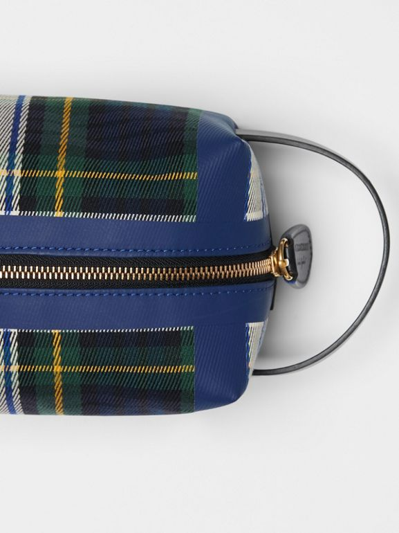 Tartan Cotton Pouch in Limestone | Burberry - cell image 1