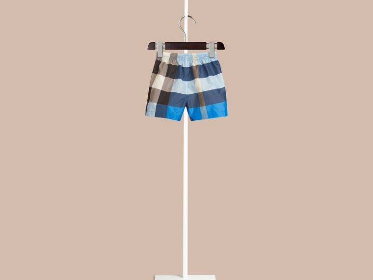 Check Swim Shorts in Cerulean Blue | Burberry Canada - cell image 1