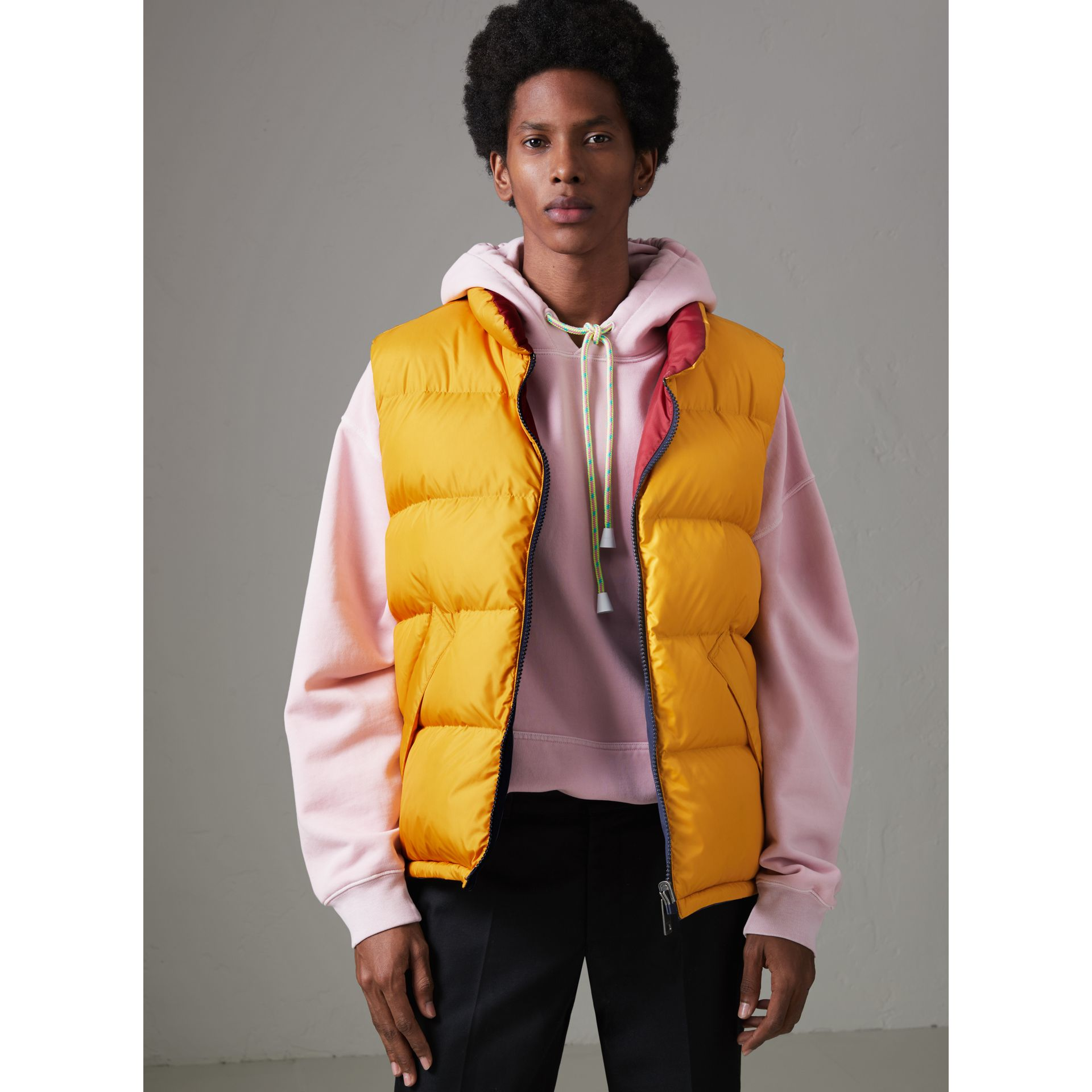 Veste sans manches réversible color-block (Marine) - Homme | Burberry - photo de la galerie 6