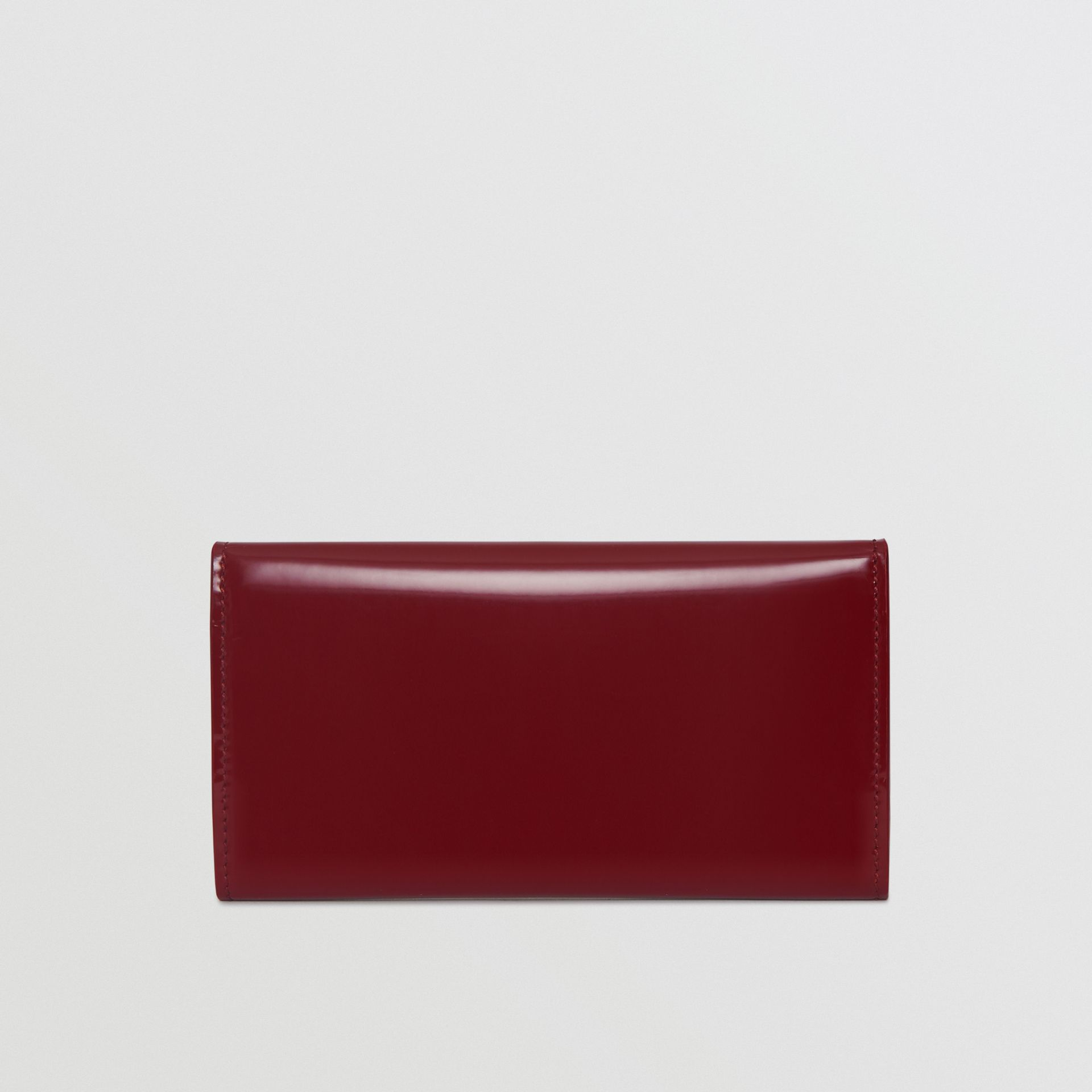 D-ring Patent Leather Continental Wallet in Crimson - Women | Burberry - gallery image 5