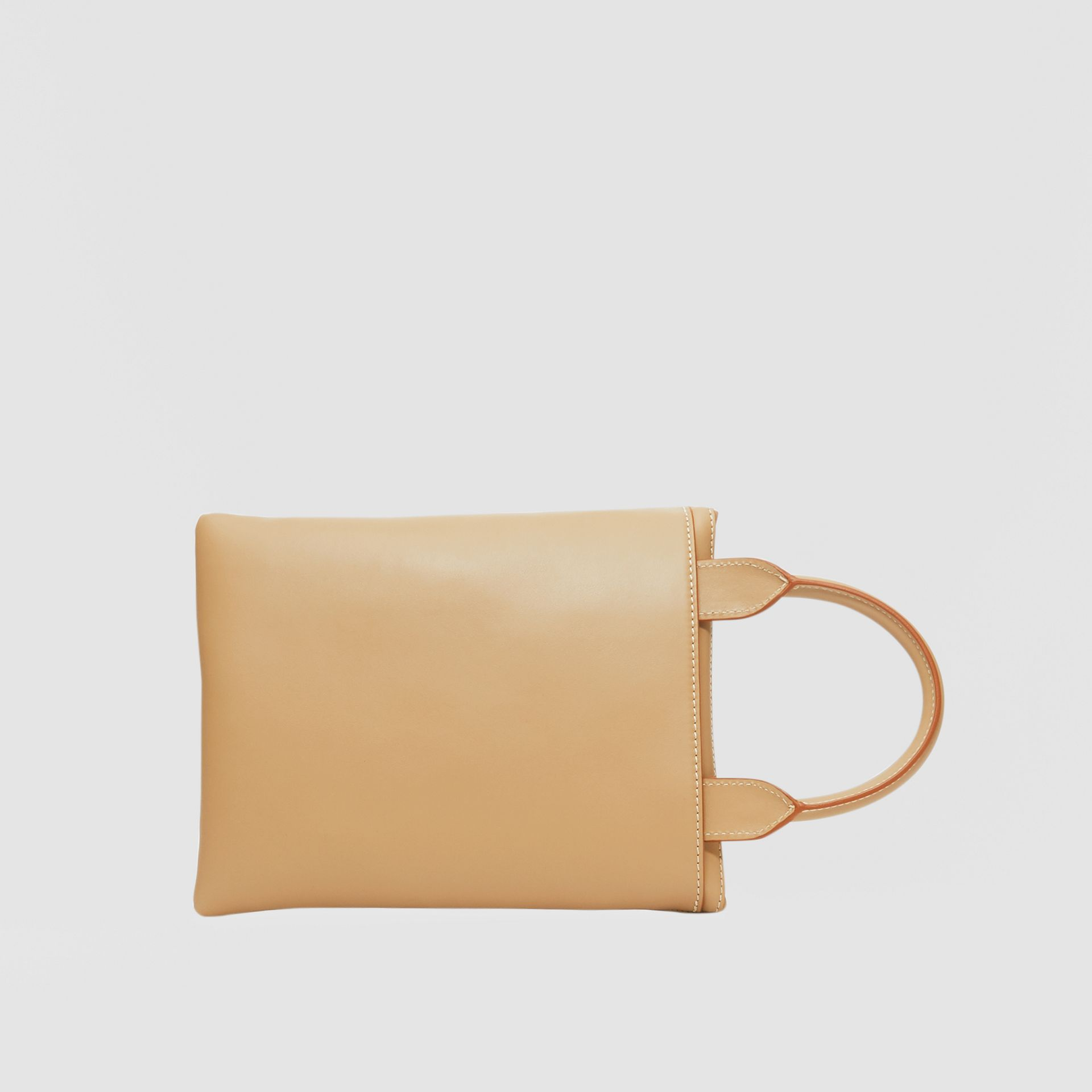 Leather Portrait Pouch in Honey - Men | Burberry United Kingdom - gallery image 5