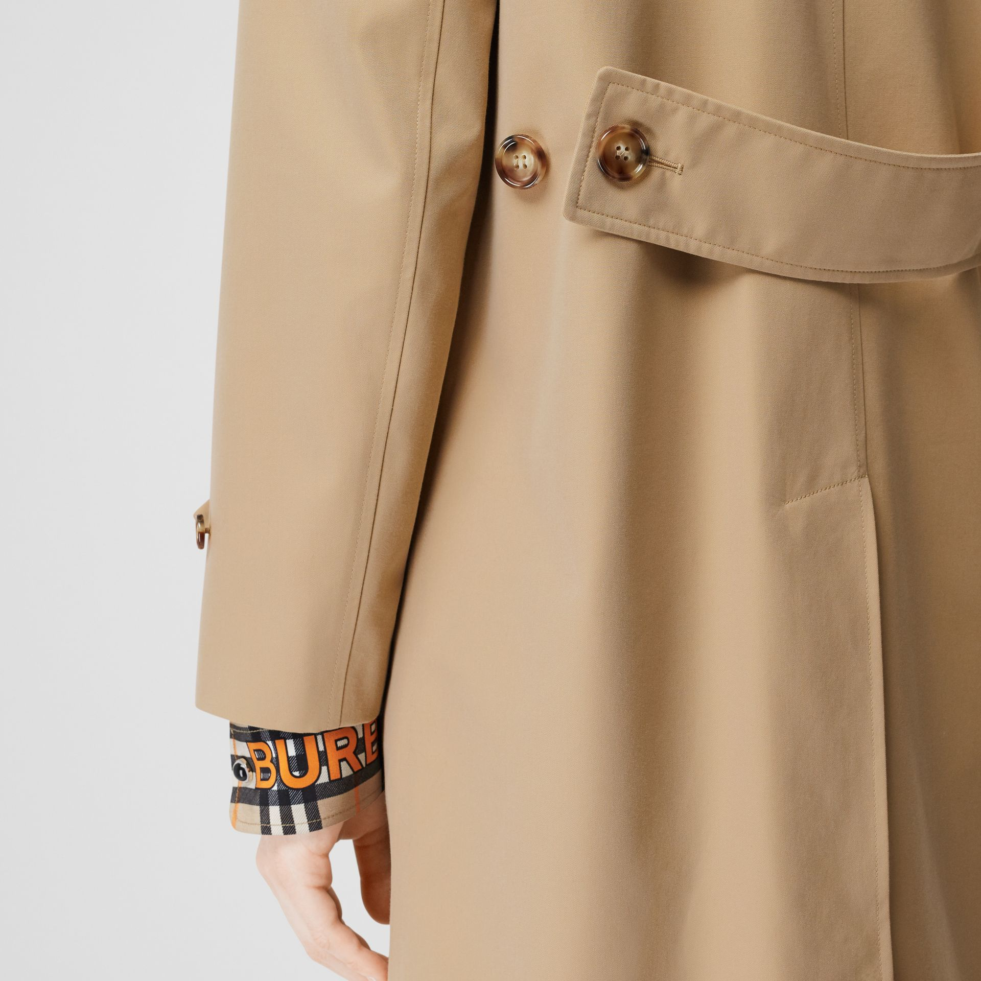 Cotton Gabardine Lab Coat in Honey - Women | Burberry - gallery image 4