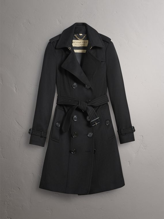 Sandringham Fit Cashmere Trench Coat in Black - Women | Burberry United Kingdom - cell image 3
