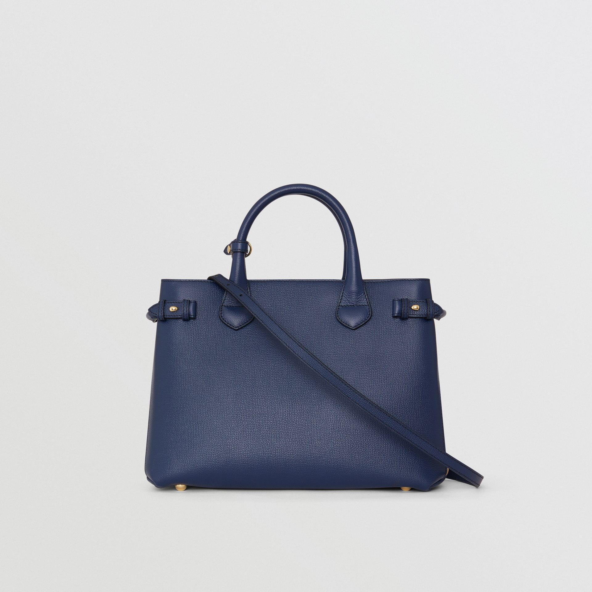 Sac The Banner medium en cuir et coton House check (Bleu Encre) - Femme | Burberry - photo de la galerie 7