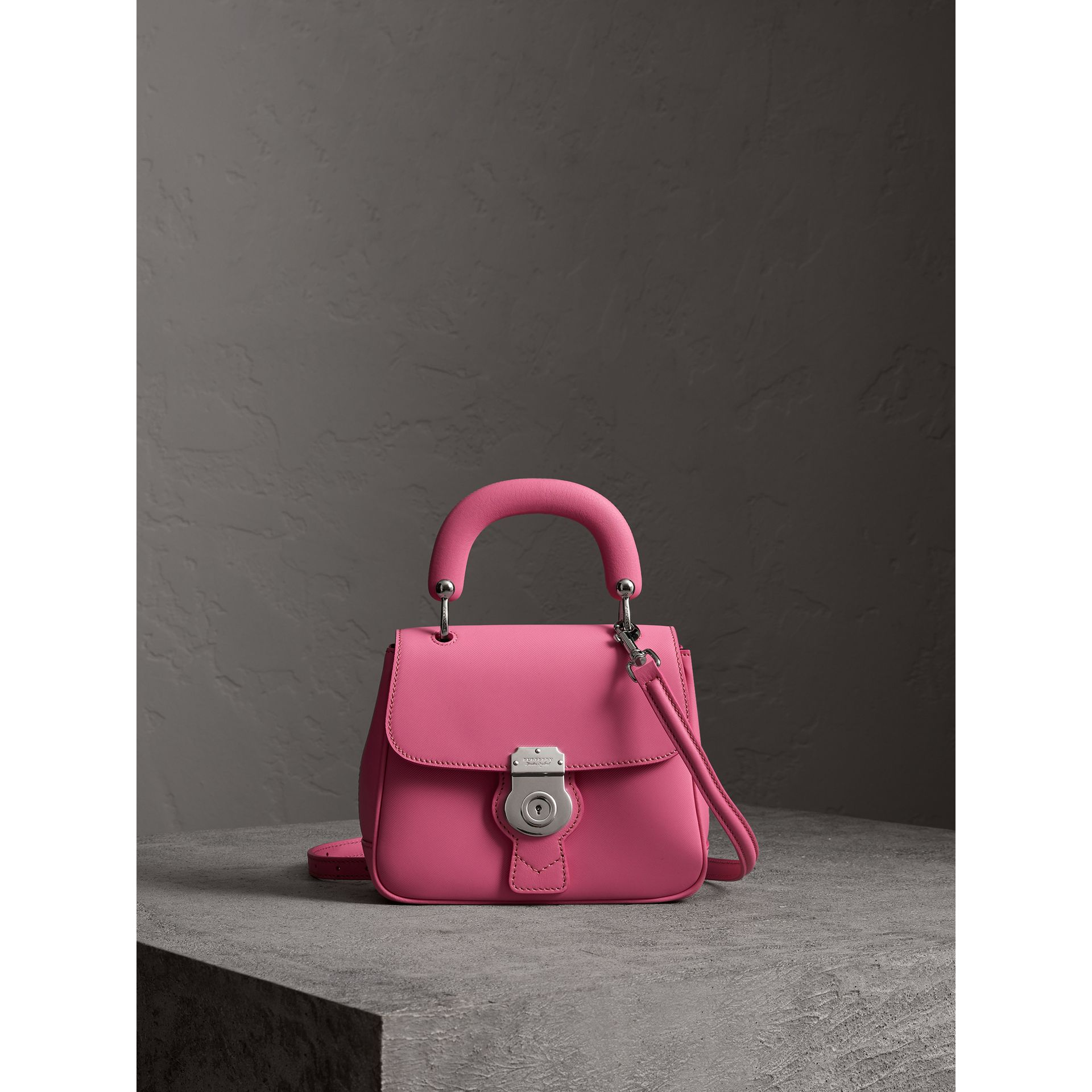 The Small DK88 Top Handle Bag in Rose Pink - Women | Burberry Australia - gallery image 1