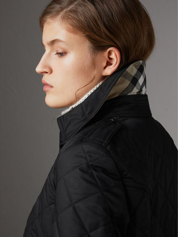 Diamond Quilted Jacket in Black - Women | Burberry - cell image 1