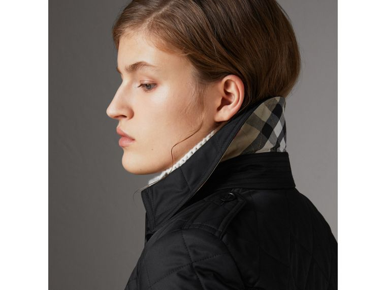 Diamond Quilted Jacket in Black - Women | Burberry Australia - cell image 1