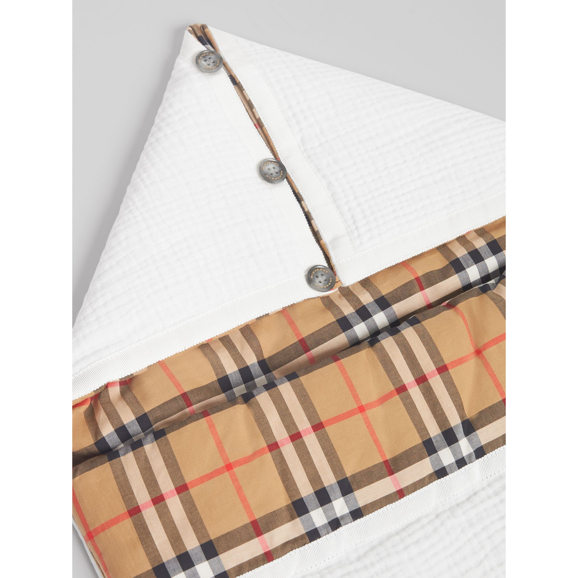 Vintage Check Cotton Baby Nest in White - Children | Burberry - gallery image 1